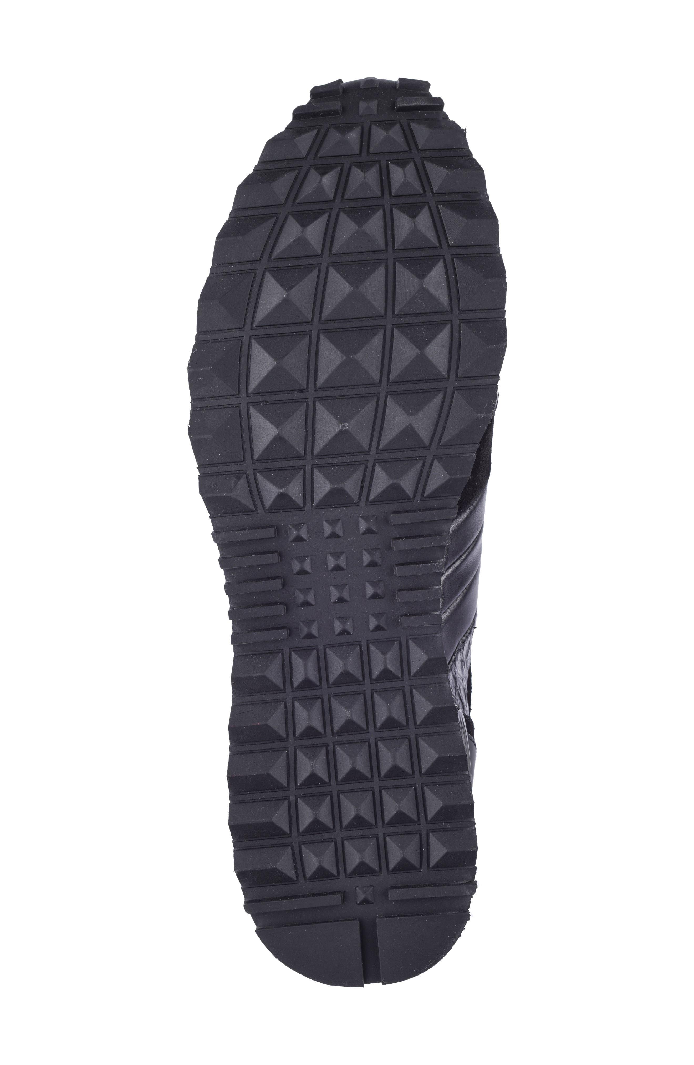 Textured Sneaker,                             Alternate thumbnail 4, color,                             Black