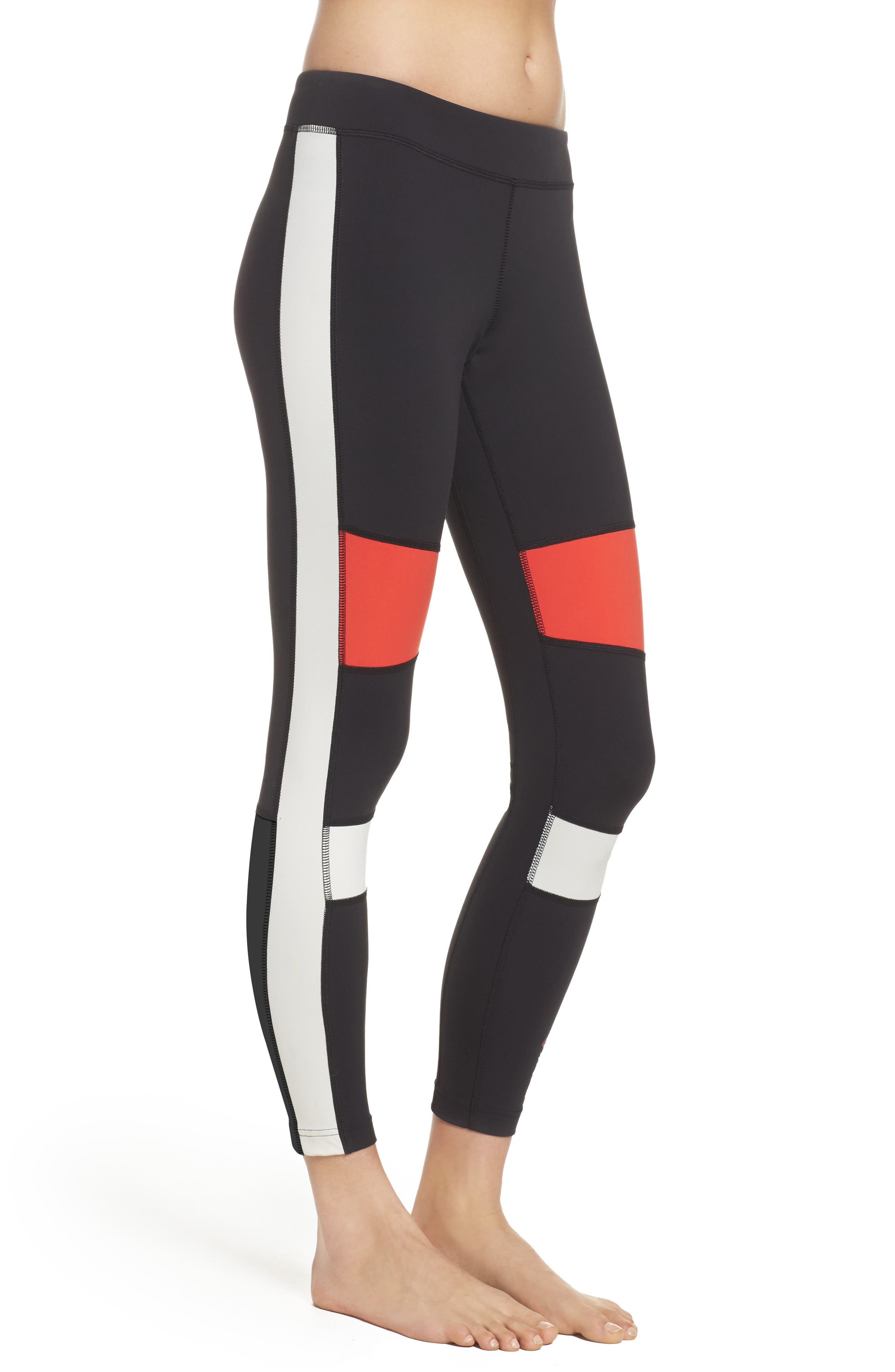 Speedwick Colorblock Tights,                             Alternate thumbnail 3, color,                             Black