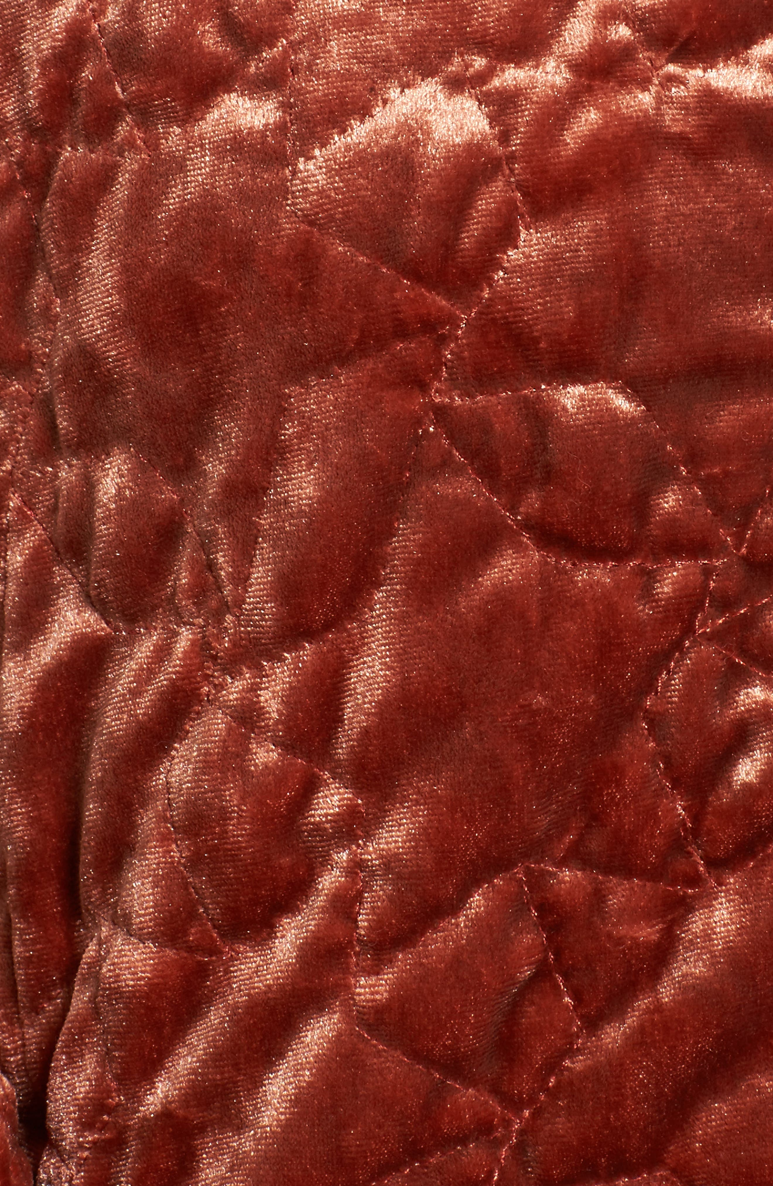 Alternate Image 6  - Bernardo Quilted Velvet Bomber Jacket (Regular & Petite)