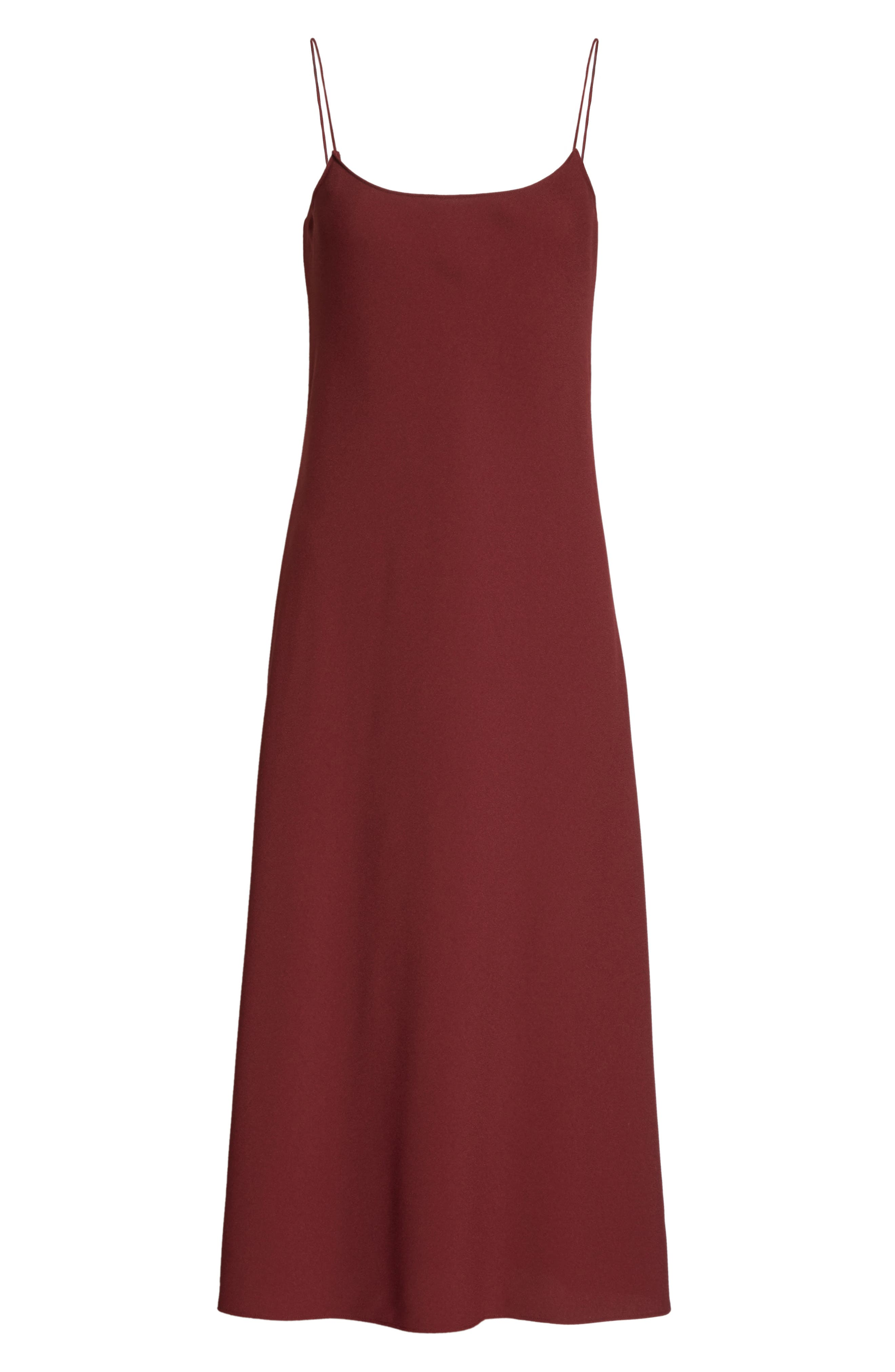 Telson Rosina Crepe Slipdress,                             Alternate thumbnail 7, color,                             Chili Red