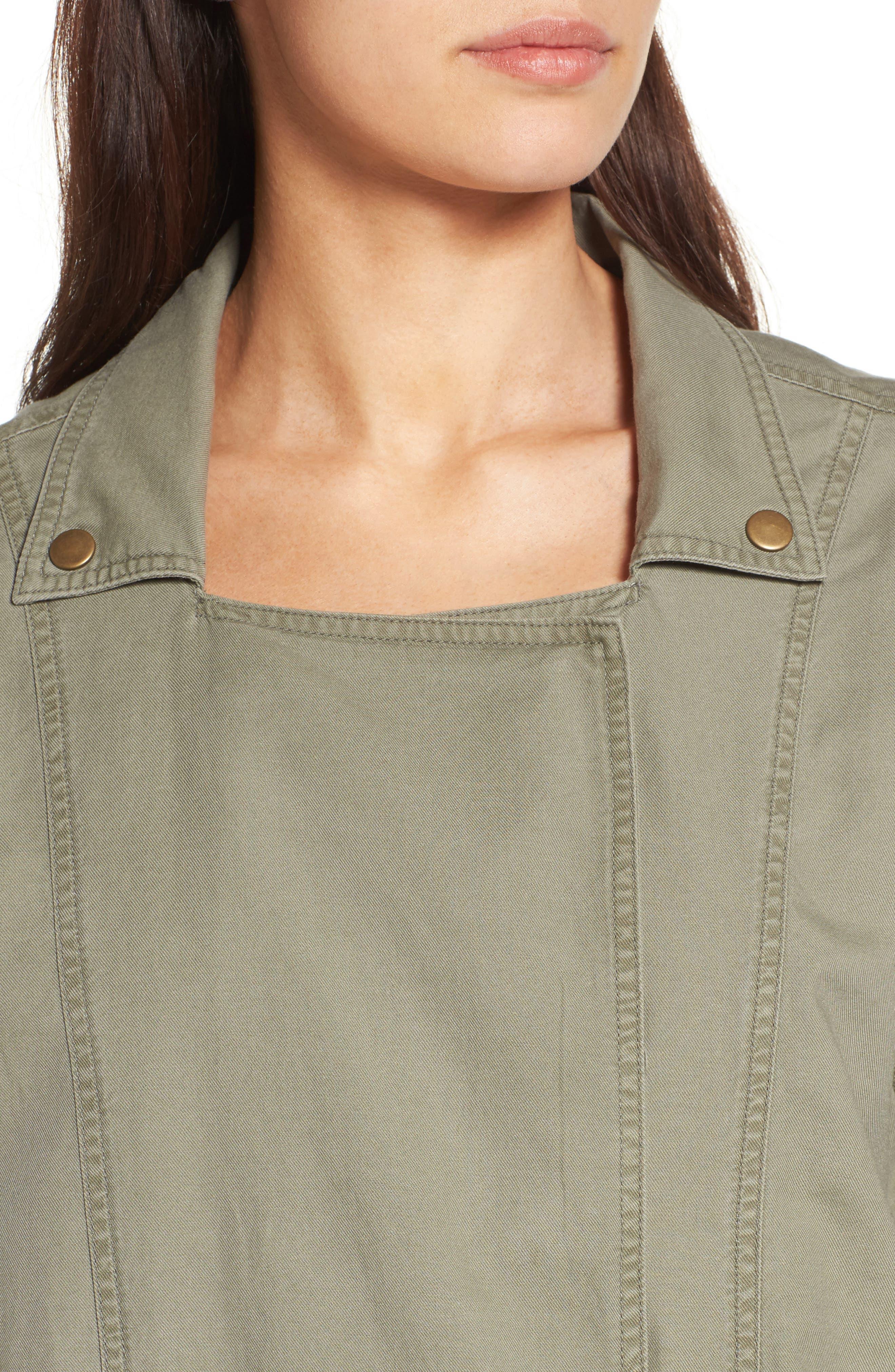 Alternate Image 6  - Caslon® Roll Sleeve Utility Jacket (Regular & Petite)