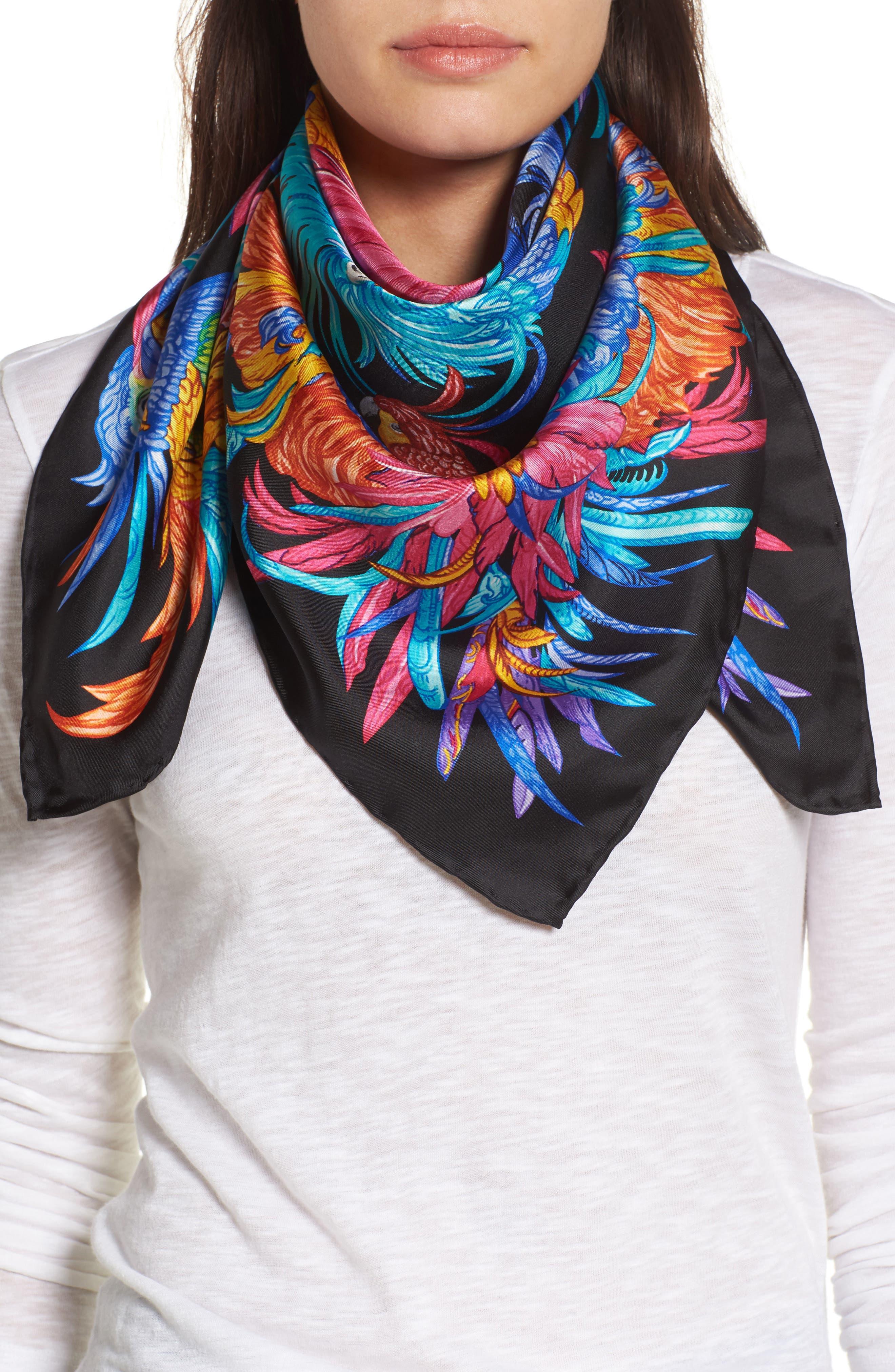 ECHO Parajos Coloridos Square Silk Scarf