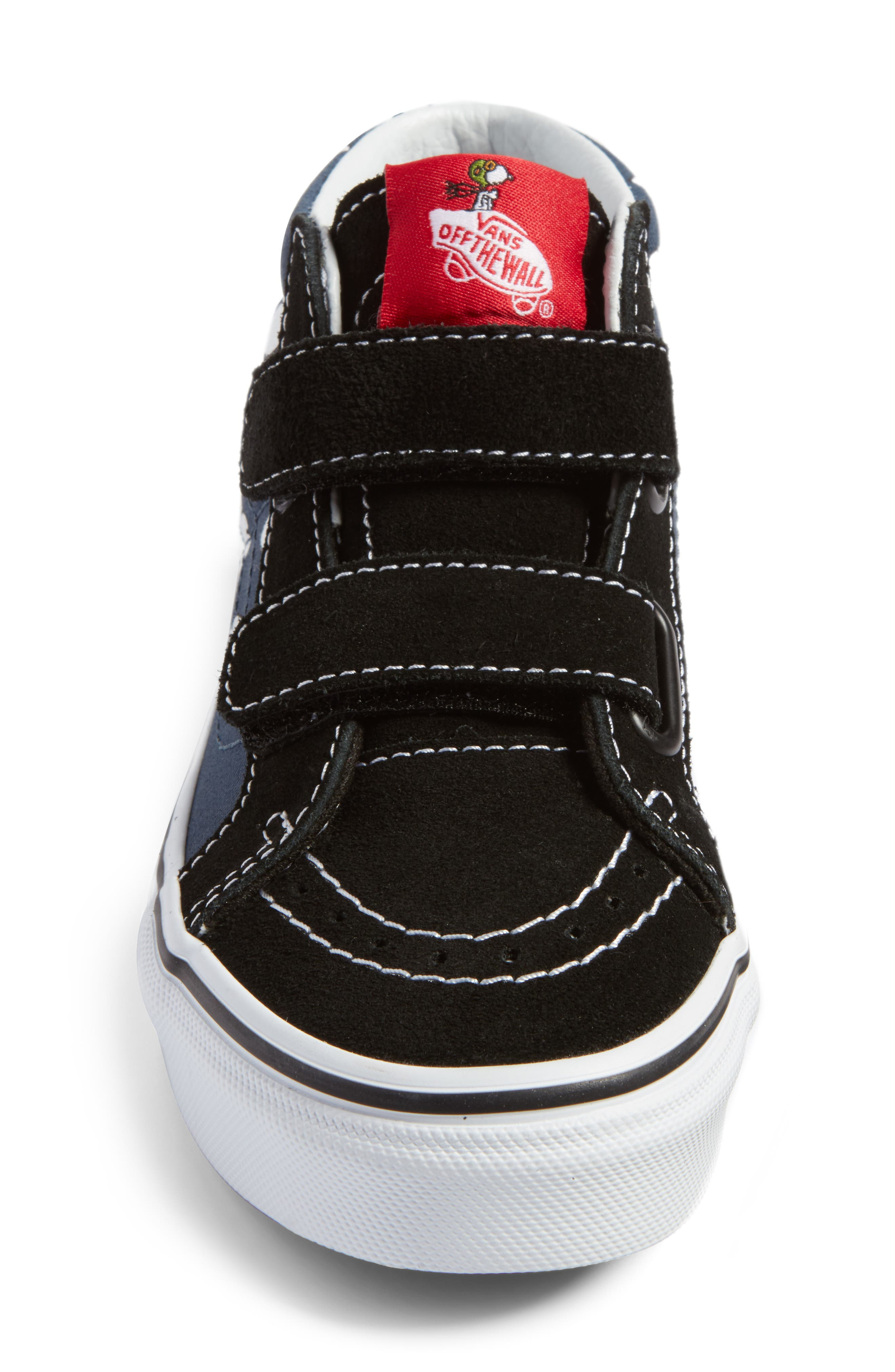 x Peanuts SK8-Mid Reissue V Sneaker,                             Alternate thumbnail 4, color,                             Flying Ace/ Blue Canvas