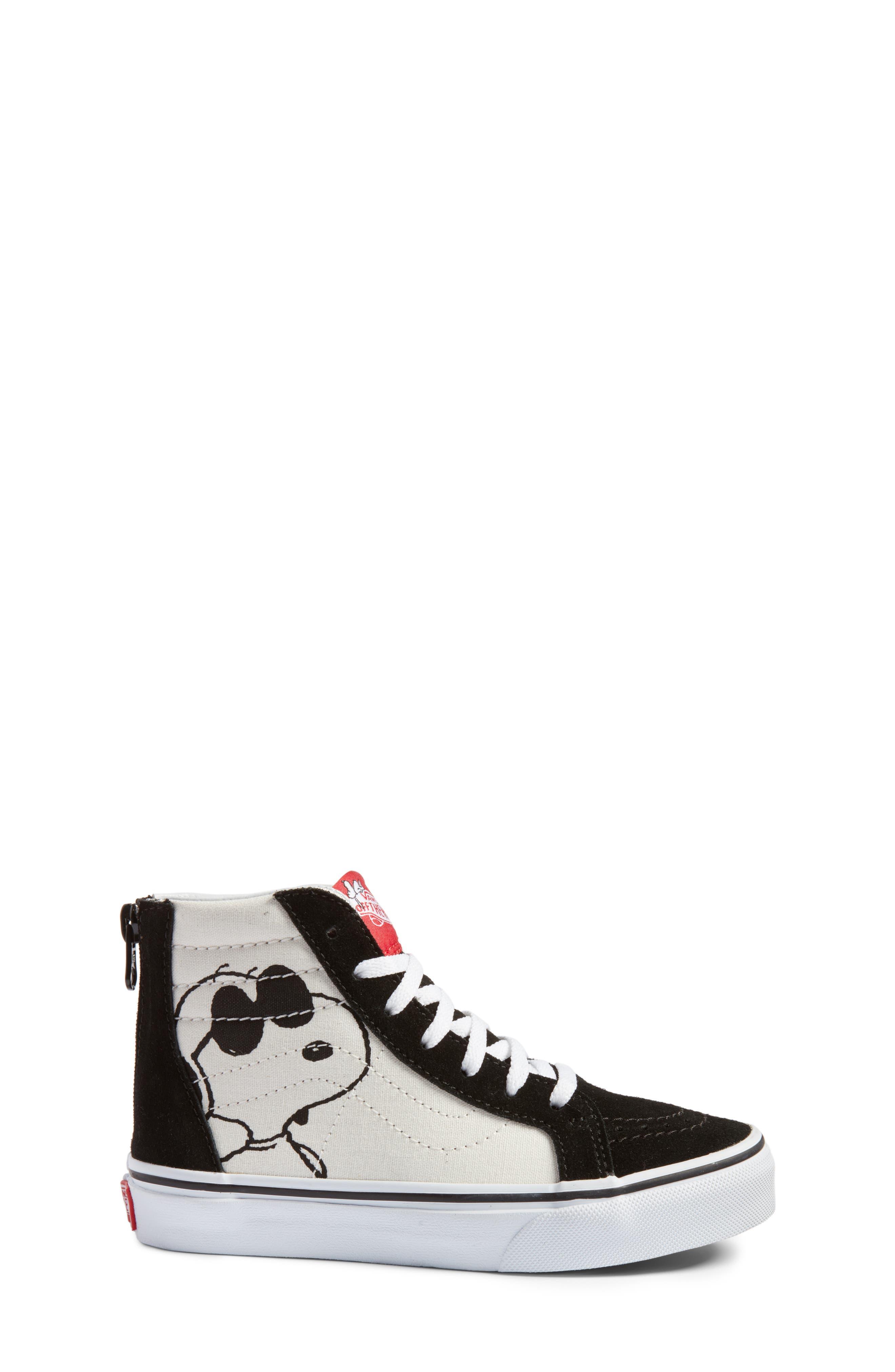 Alternate Image 3  - Vans x Peanuts SK8-Hi Sneaker (Toddler, Little Kid & Big Kid)