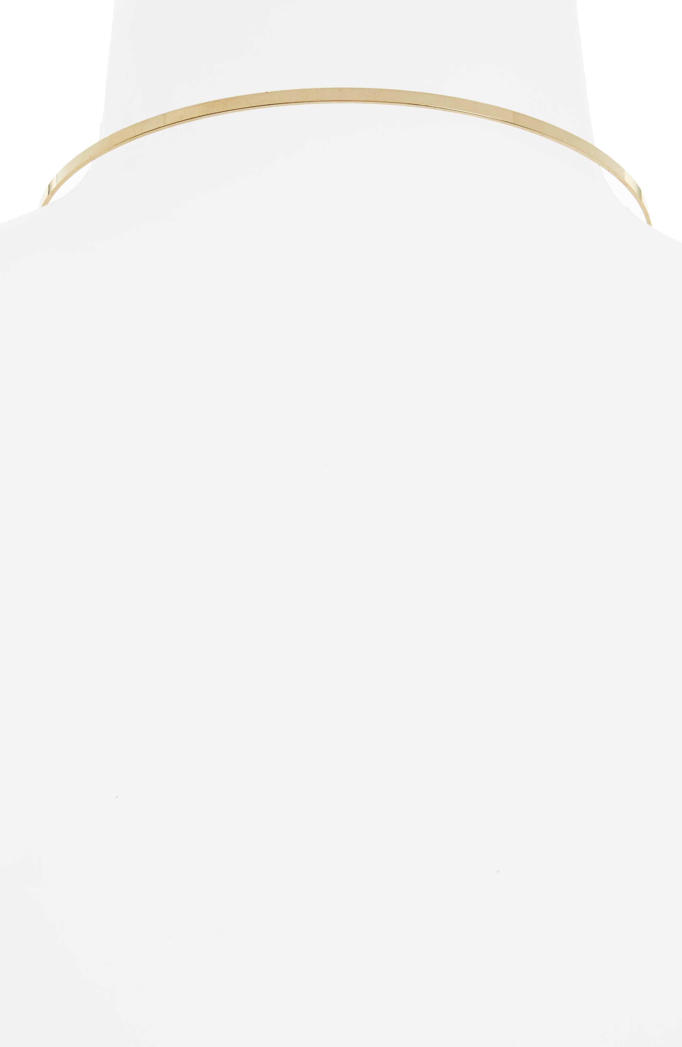 Gretta Chain Choker,                             Alternate thumbnail 2, color,                             Gold