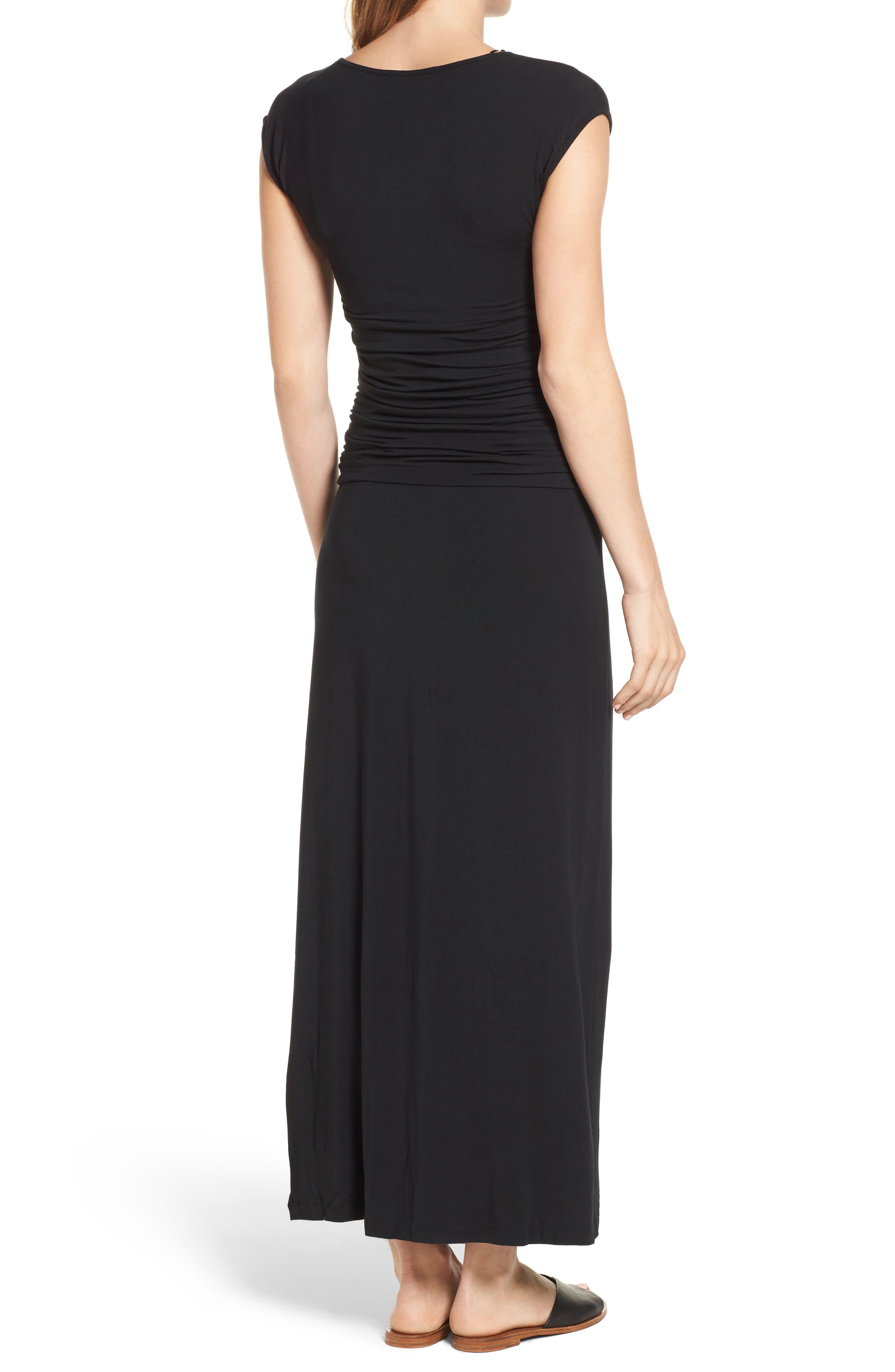 'Vita' Maternity Maxi Dress,                             Alternate thumbnail 2, color,                             Black
