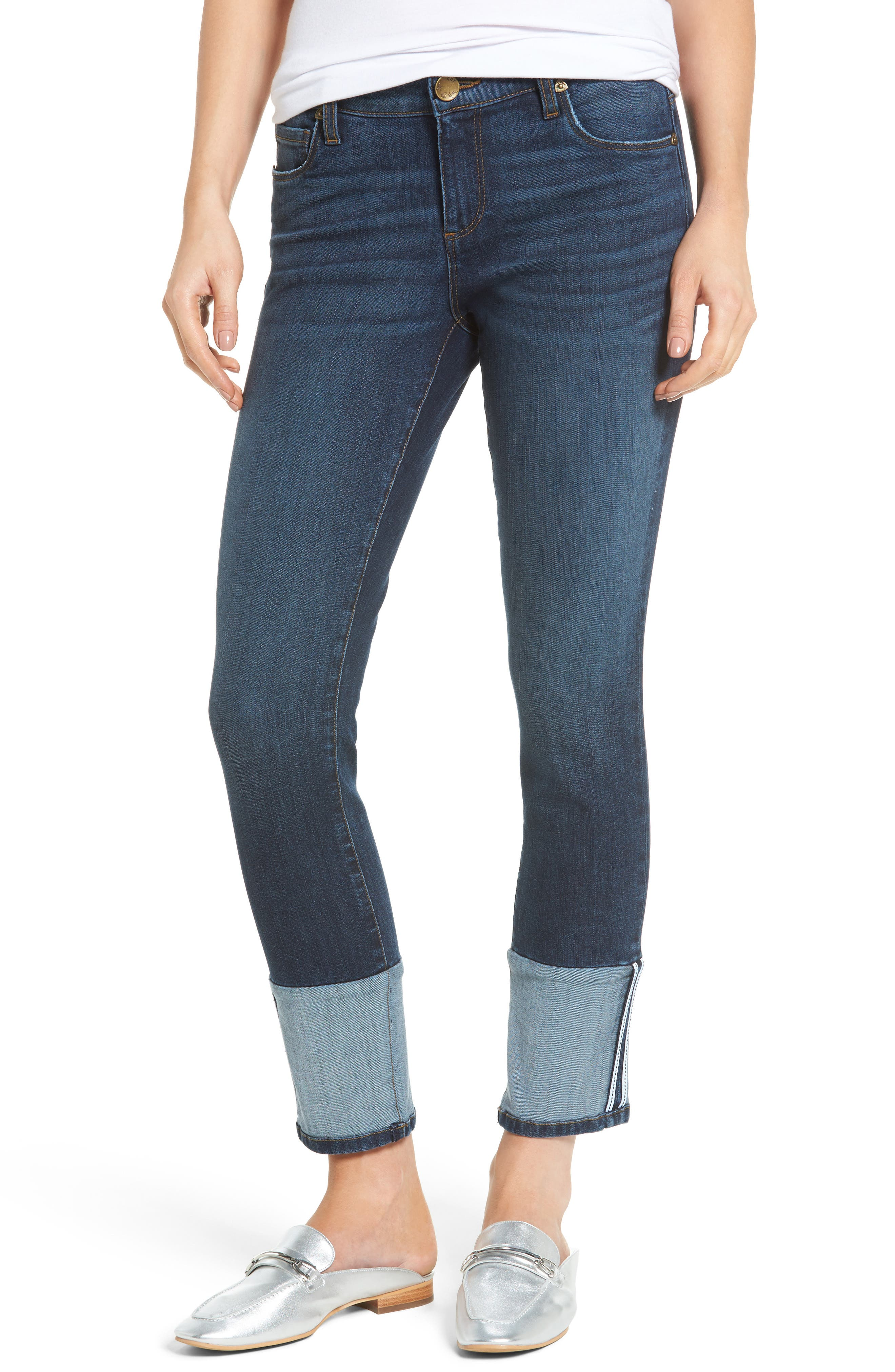 Main Image - KUT from the Kloth Reese Straight Leg Jeans (Stimulating)