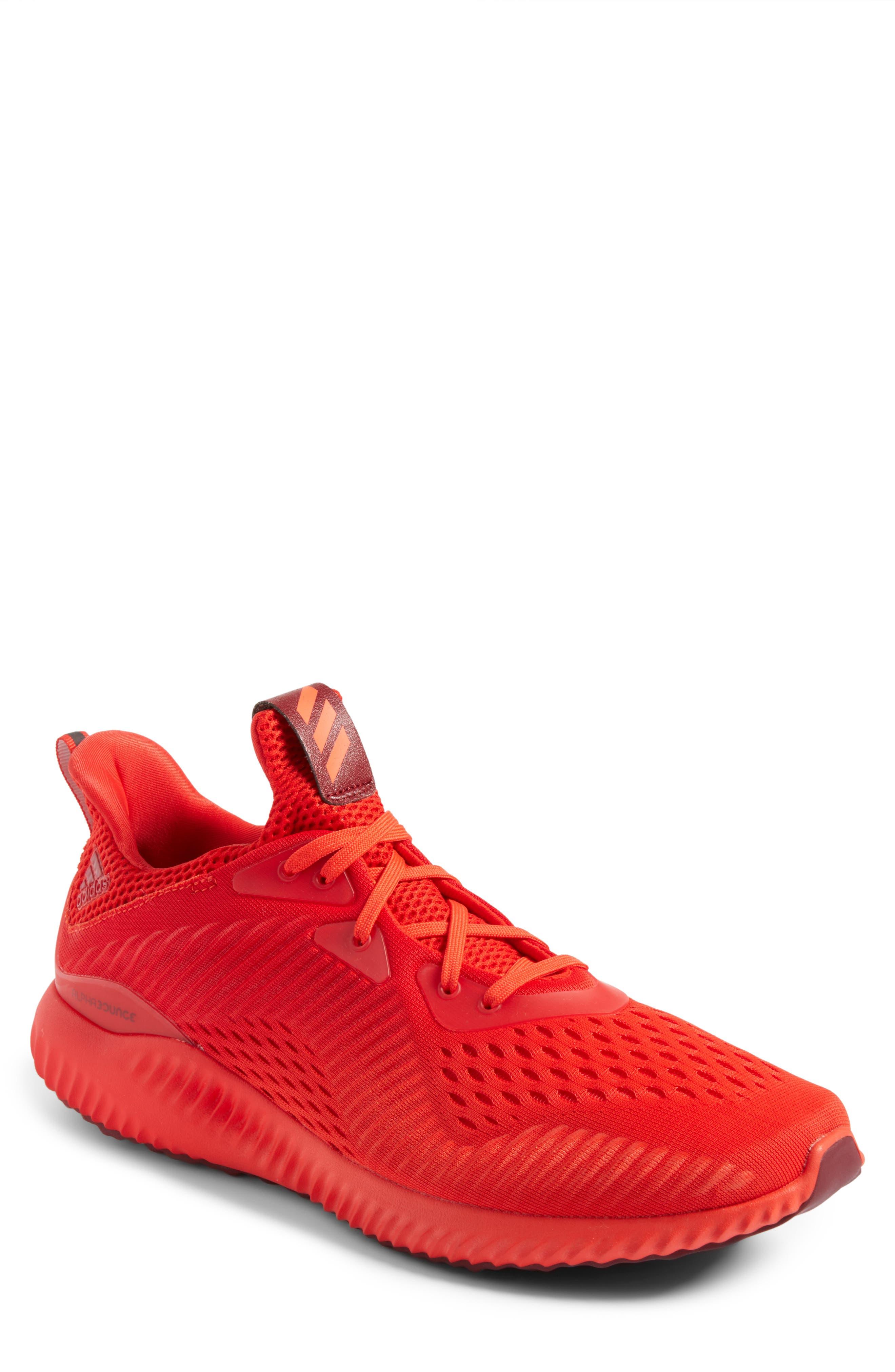 AlphaBounce Running Shoe,                             Main thumbnail 1, color,                             Blaze Orange/Red/Burgundy