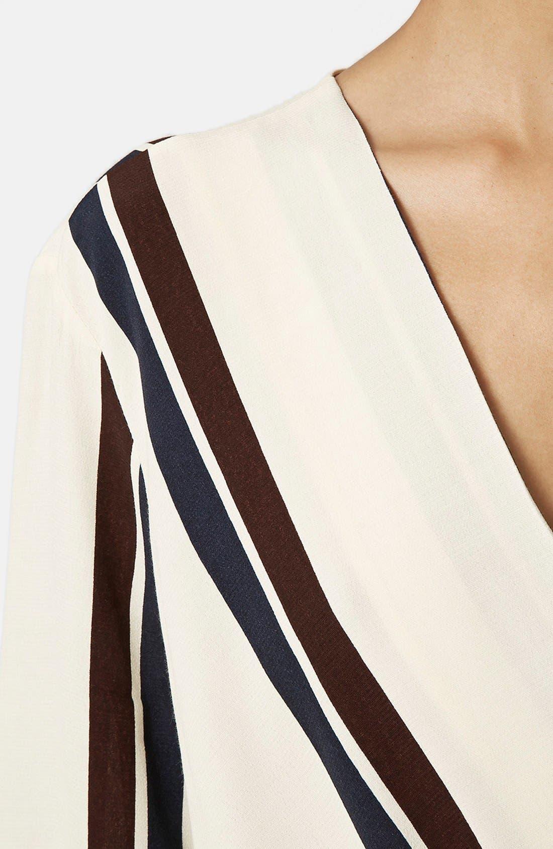 Alternate Image 4  - Topshop Drape Front Blouse