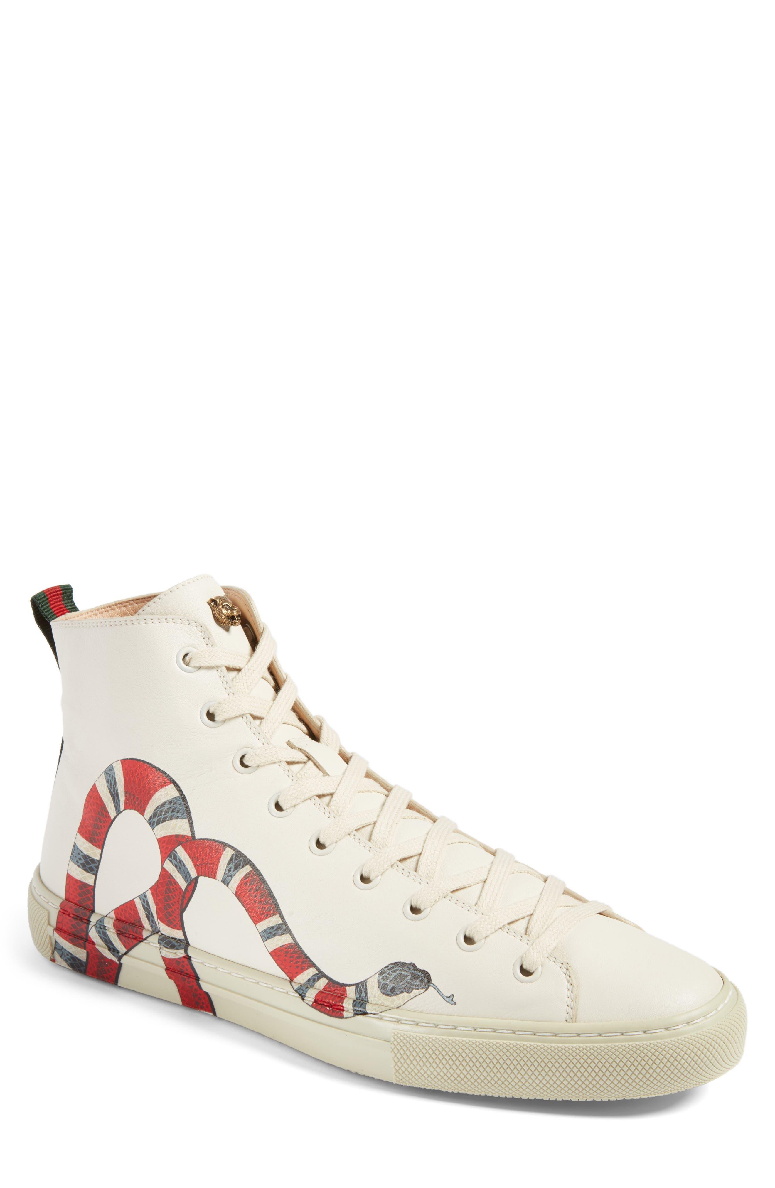 gucci shoes white. gucci major high top sneaker (men) shoes white e