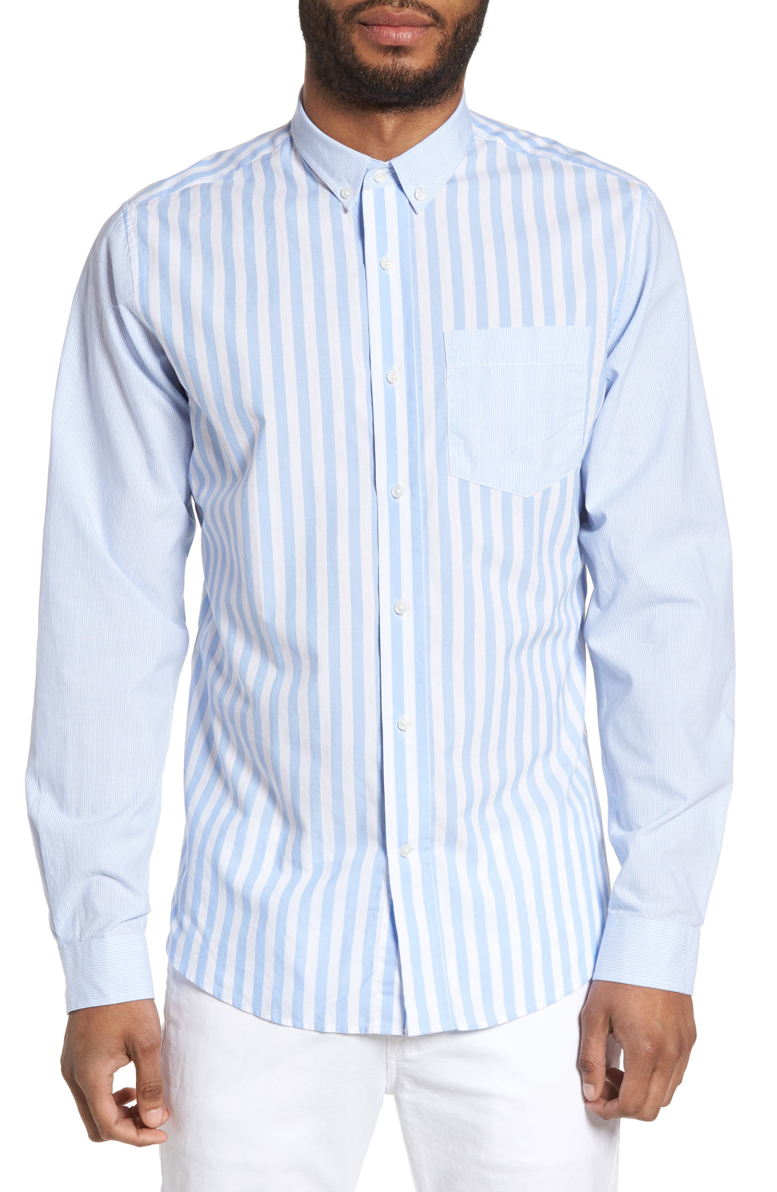 Main Image - Slate & Stone Slim Fit Stripe Sport Shirt