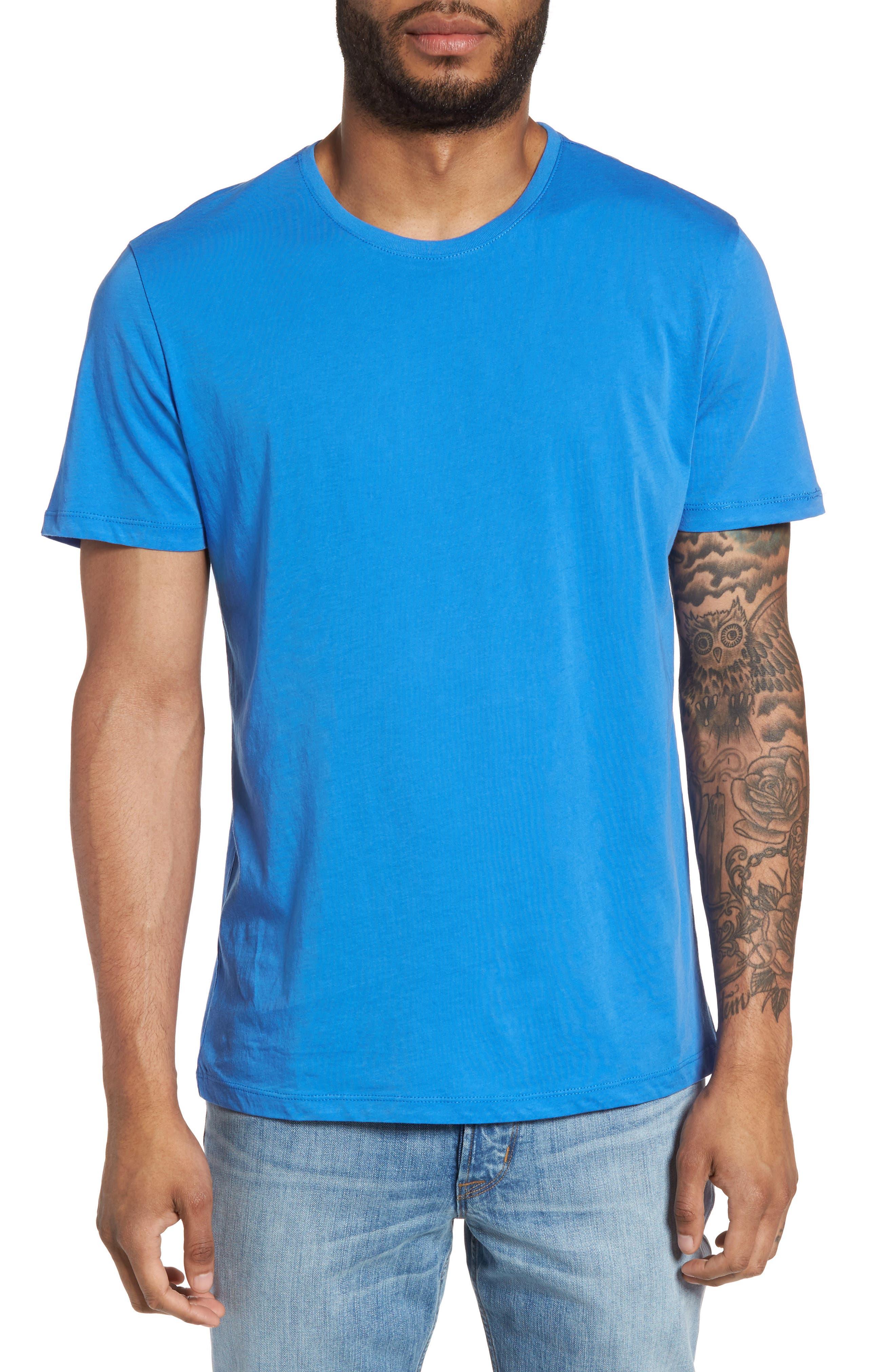 Slim Crewneck T-Shirt,                             Main thumbnail 1, color,                             Sail Blue