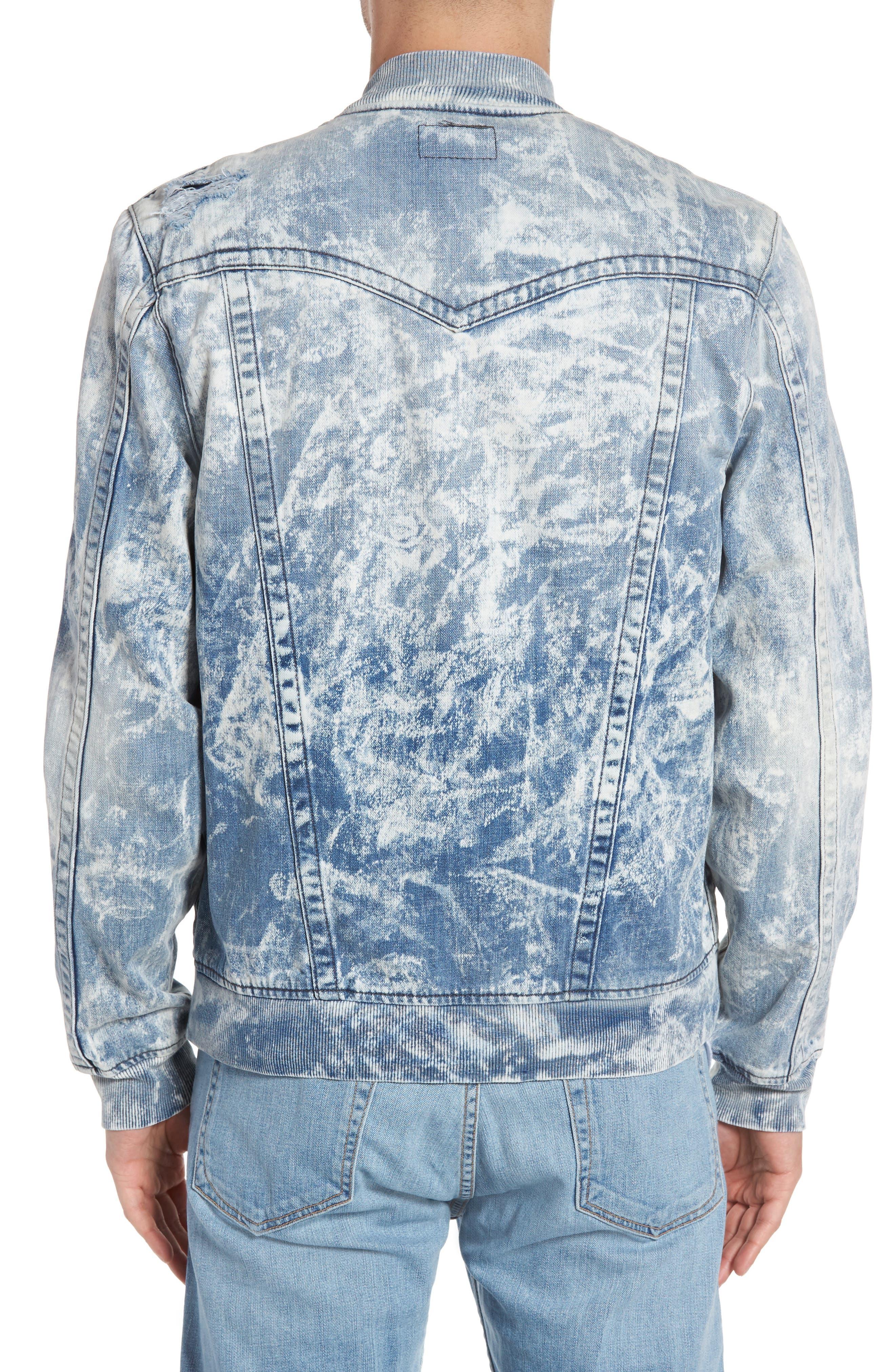 Alternate Image 2  - True Religion Brand Jeans Jimmy Bleached Denim Bomber Jacket