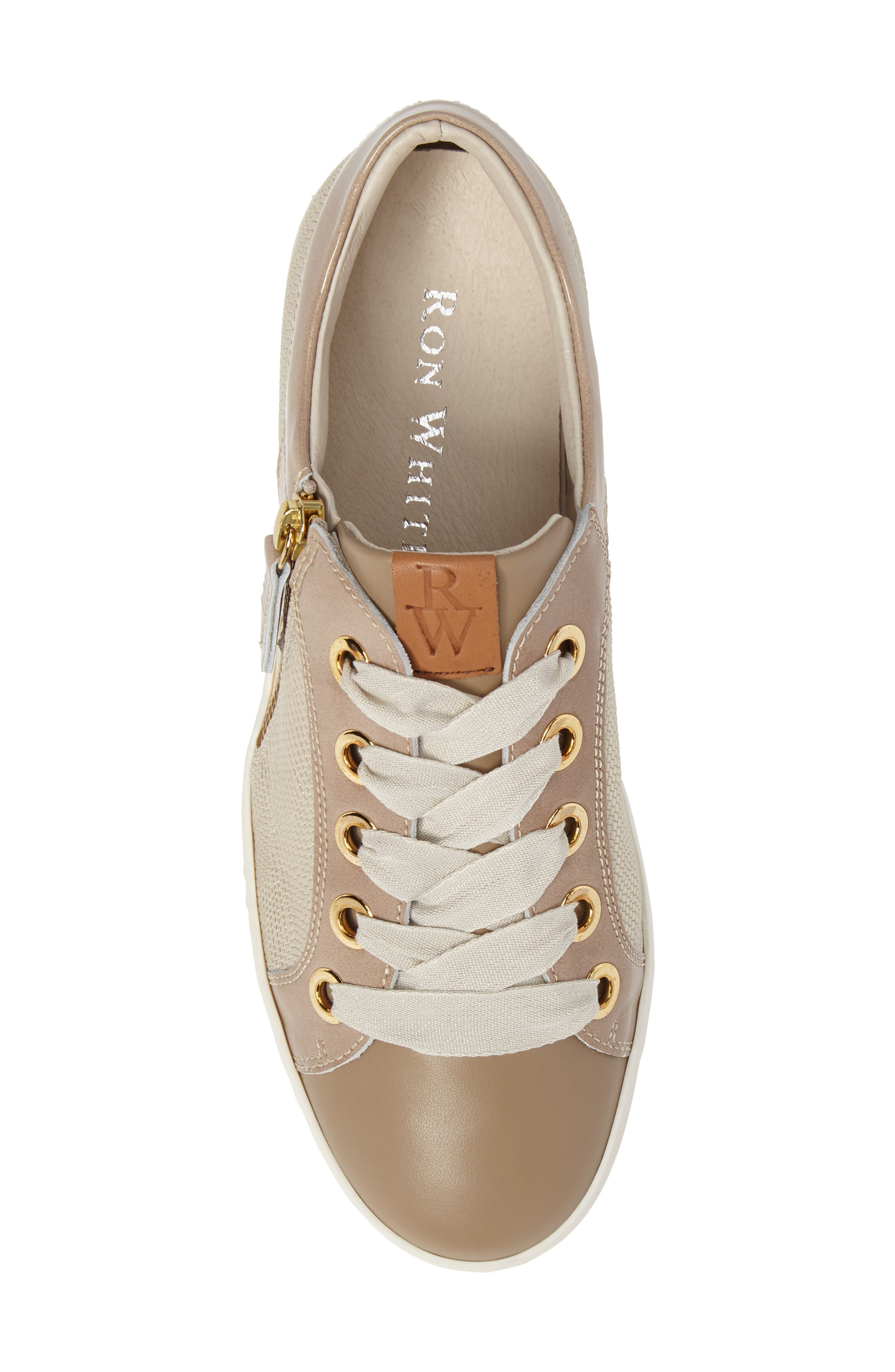 May Sneaker,                             Alternate thumbnail 5, color,                             Nude/ Platino Leather