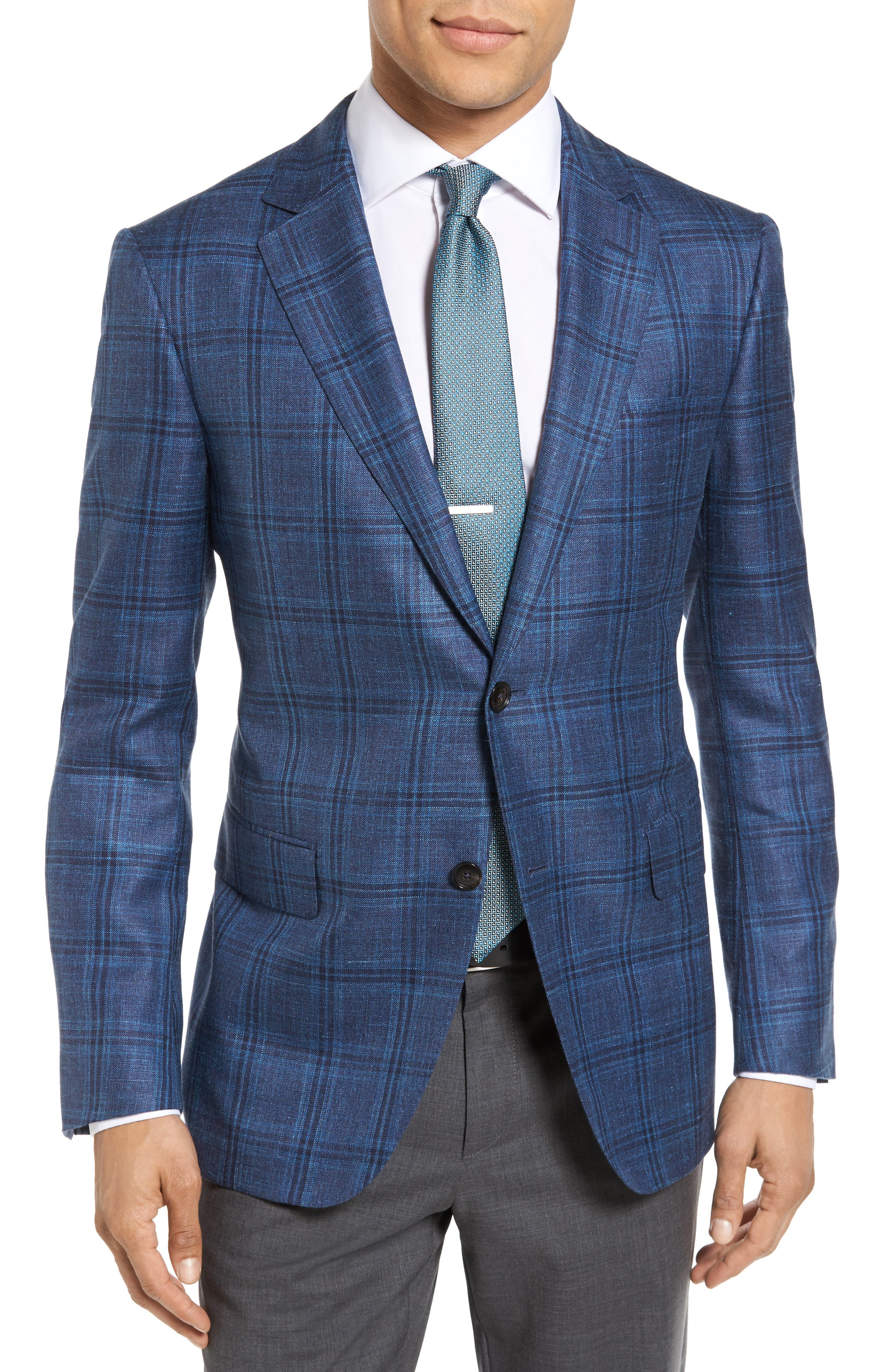 Pal Zileri Plaid Wool Blend Sport Coat