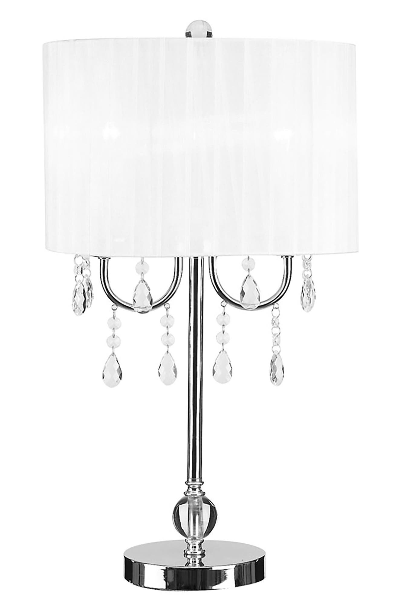 JAlexander Chandelier Table Lamp,                             Main thumbnail 1, color,                             White