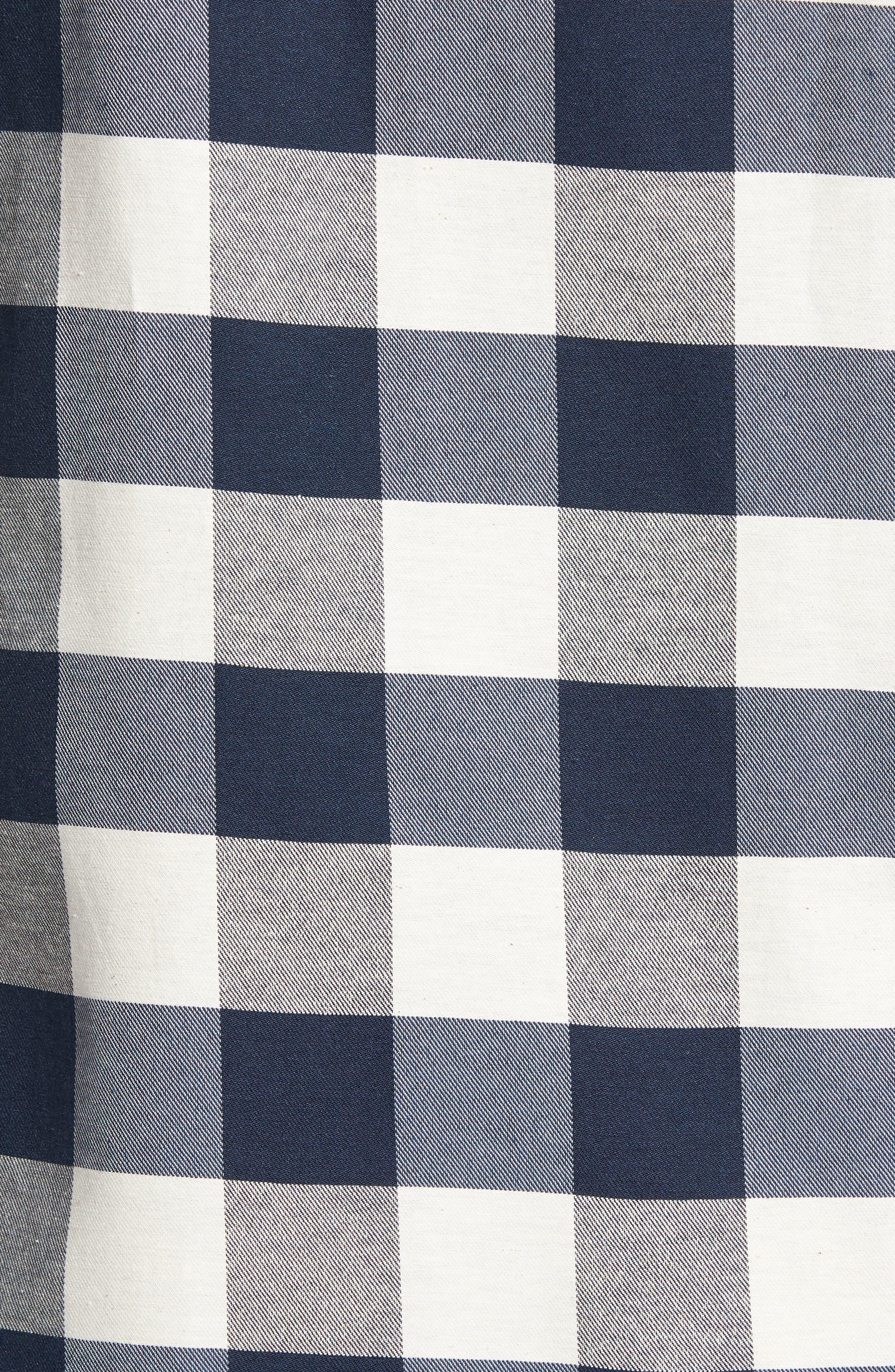 Check Twill Shirt,                             Alternate thumbnail 5, color,                             Stone Multi