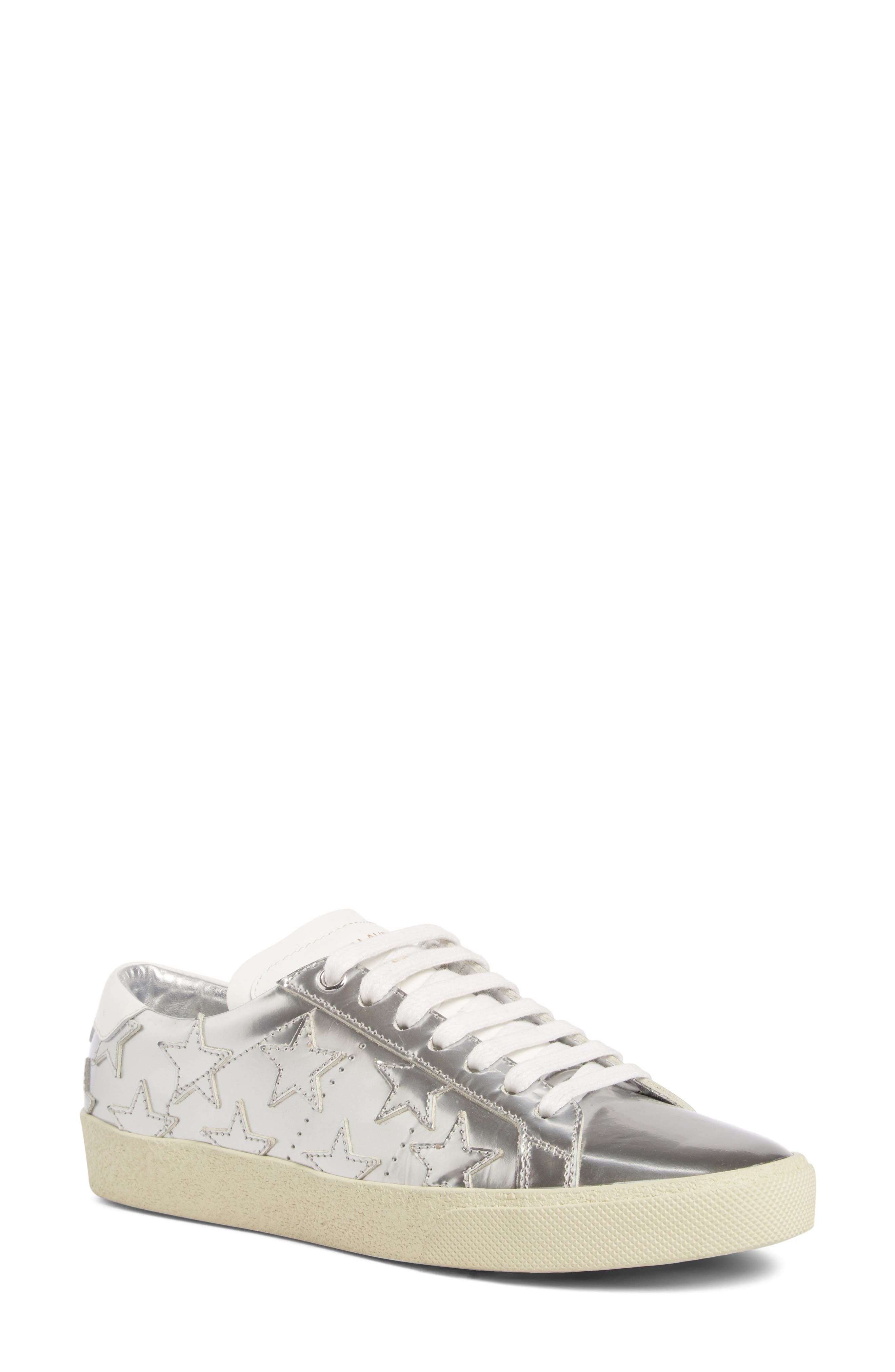 Classic Court Stars Sneaker,                             Main thumbnail 1, color,                             Metallic Silver