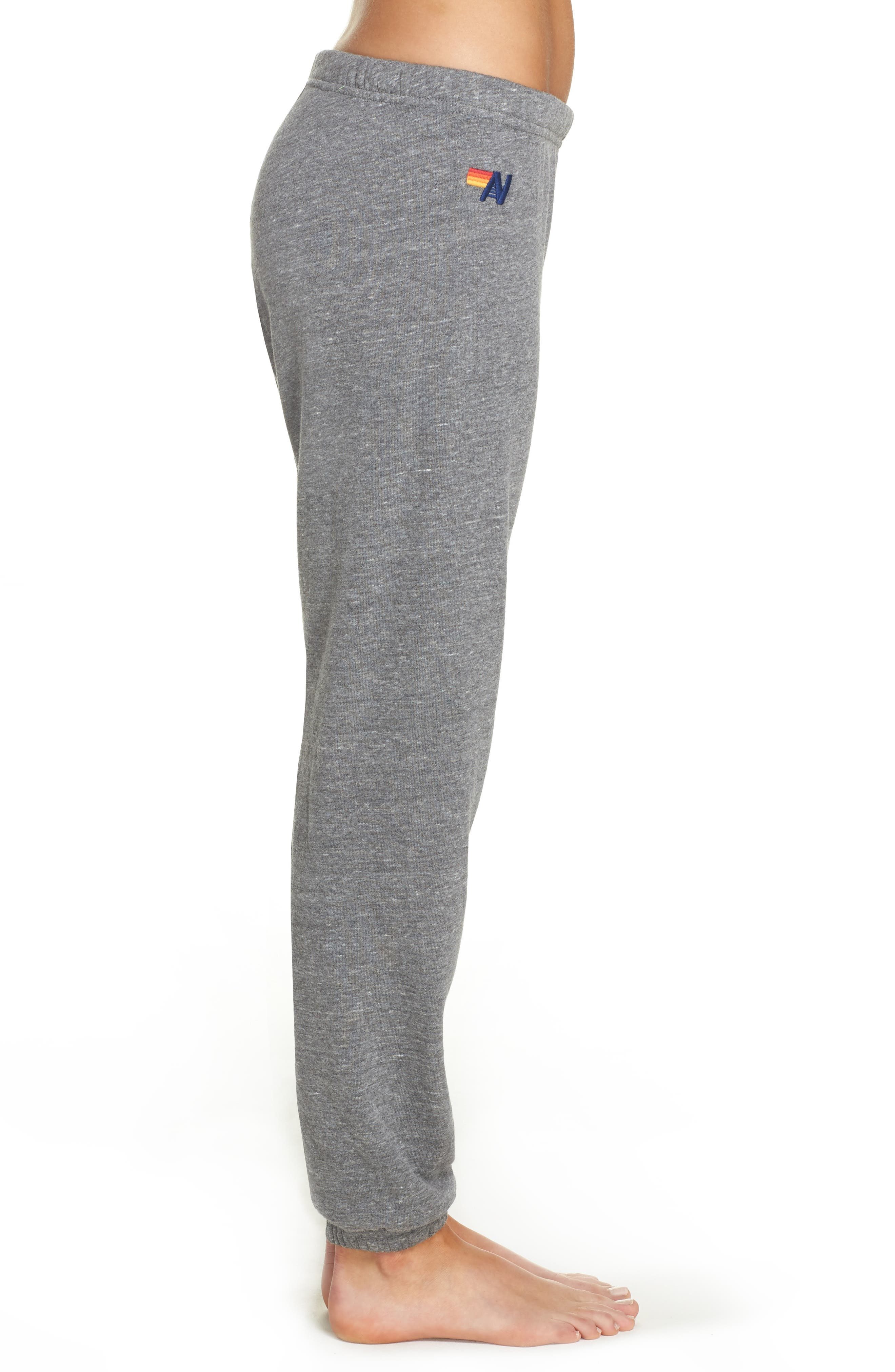 Stripe Sweatpants,                             Alternate thumbnail 3, color,                             Heather Grey