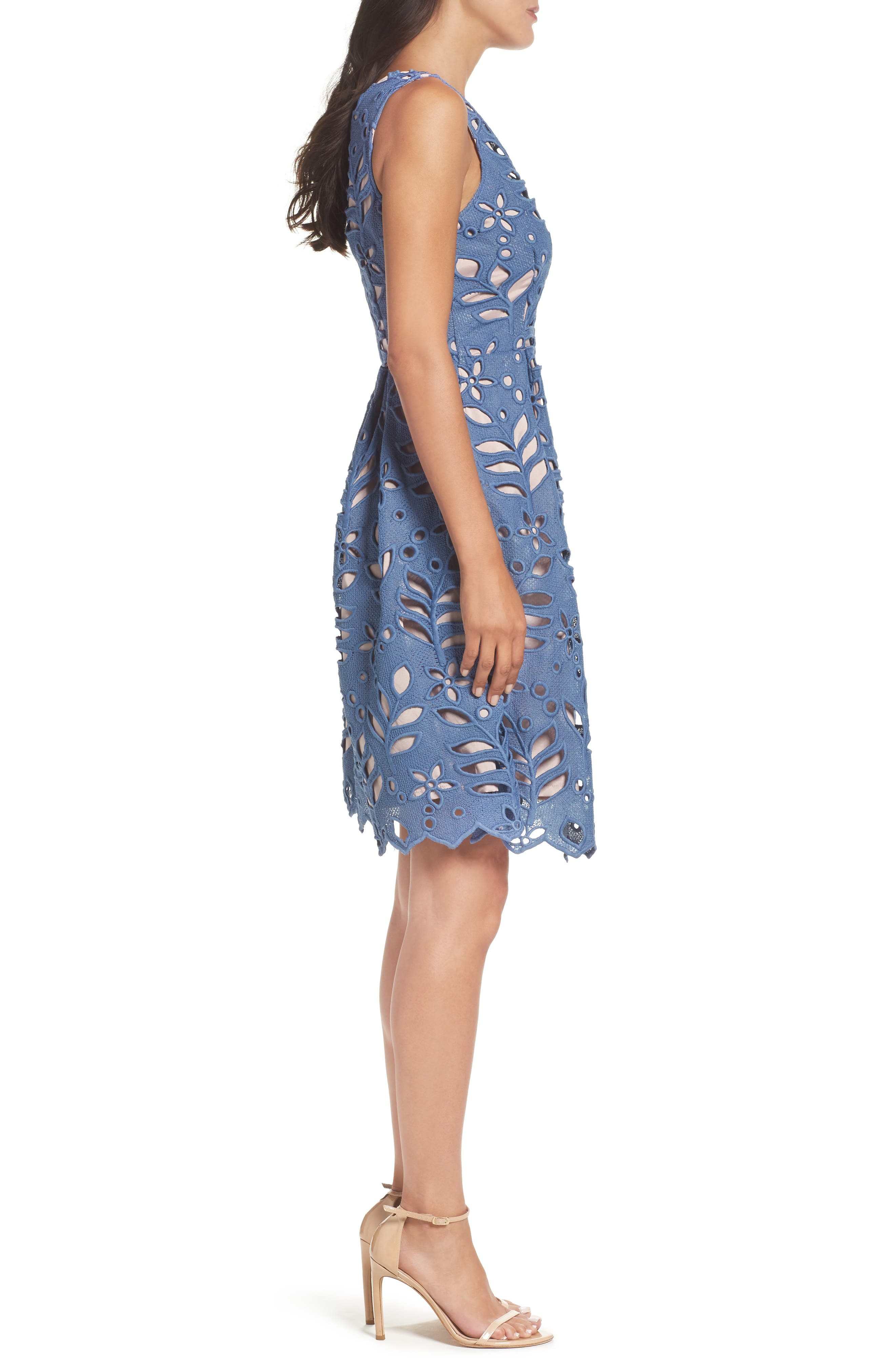 Alternate Image 3  - Adrianna Papell Bella Lace Fit & Flare Dress