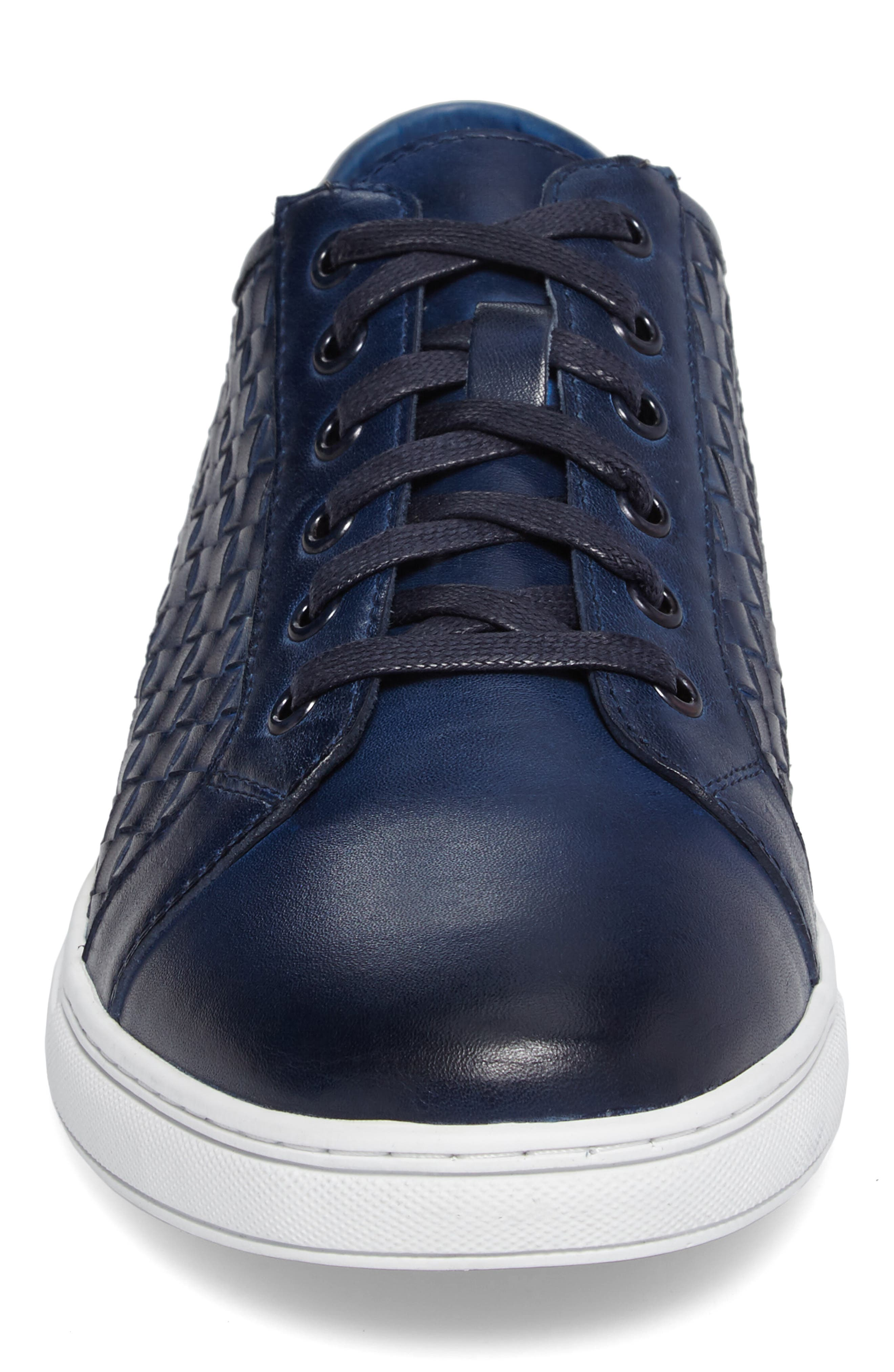 Fader Sneaker,                             Alternate thumbnail 4, color,                             Blue Leather