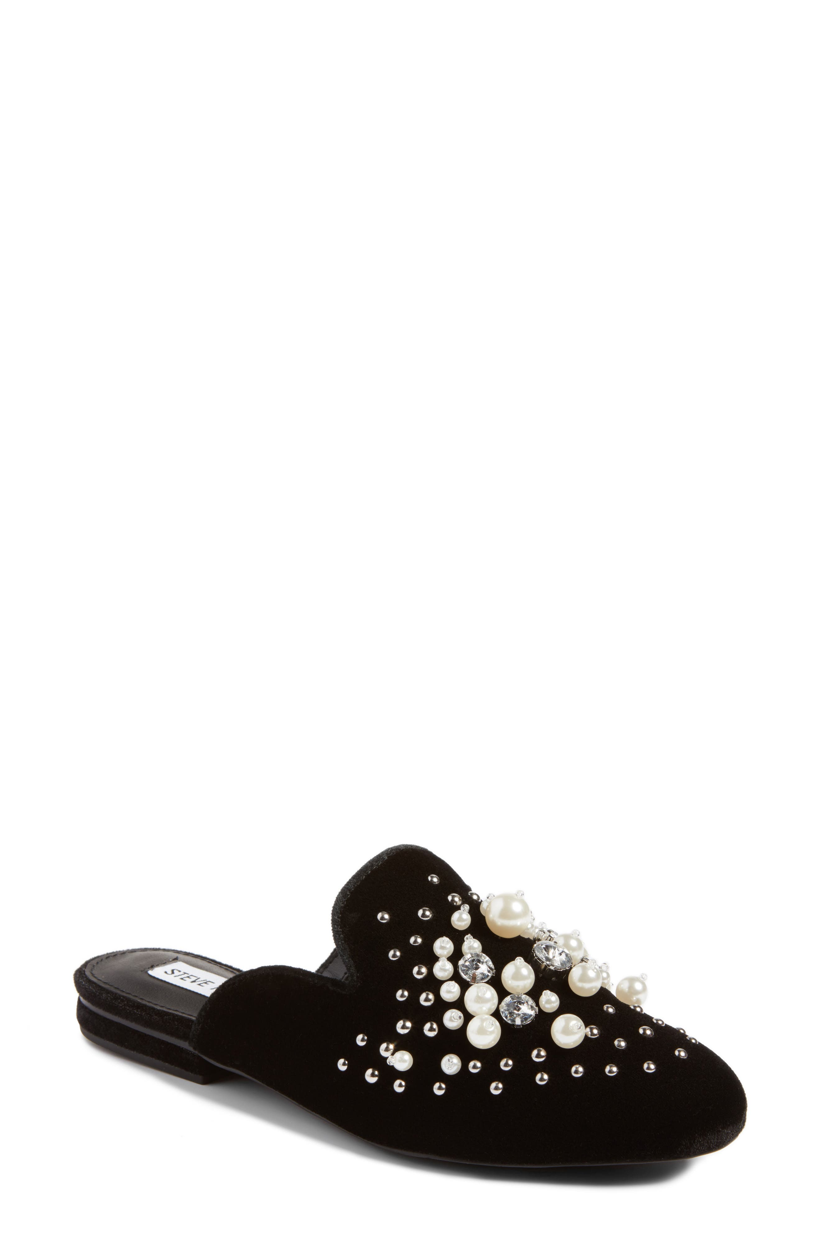 Alternate Image 1 Selected - Steve Madden Imitation Pearl Embellished Mule (Women)