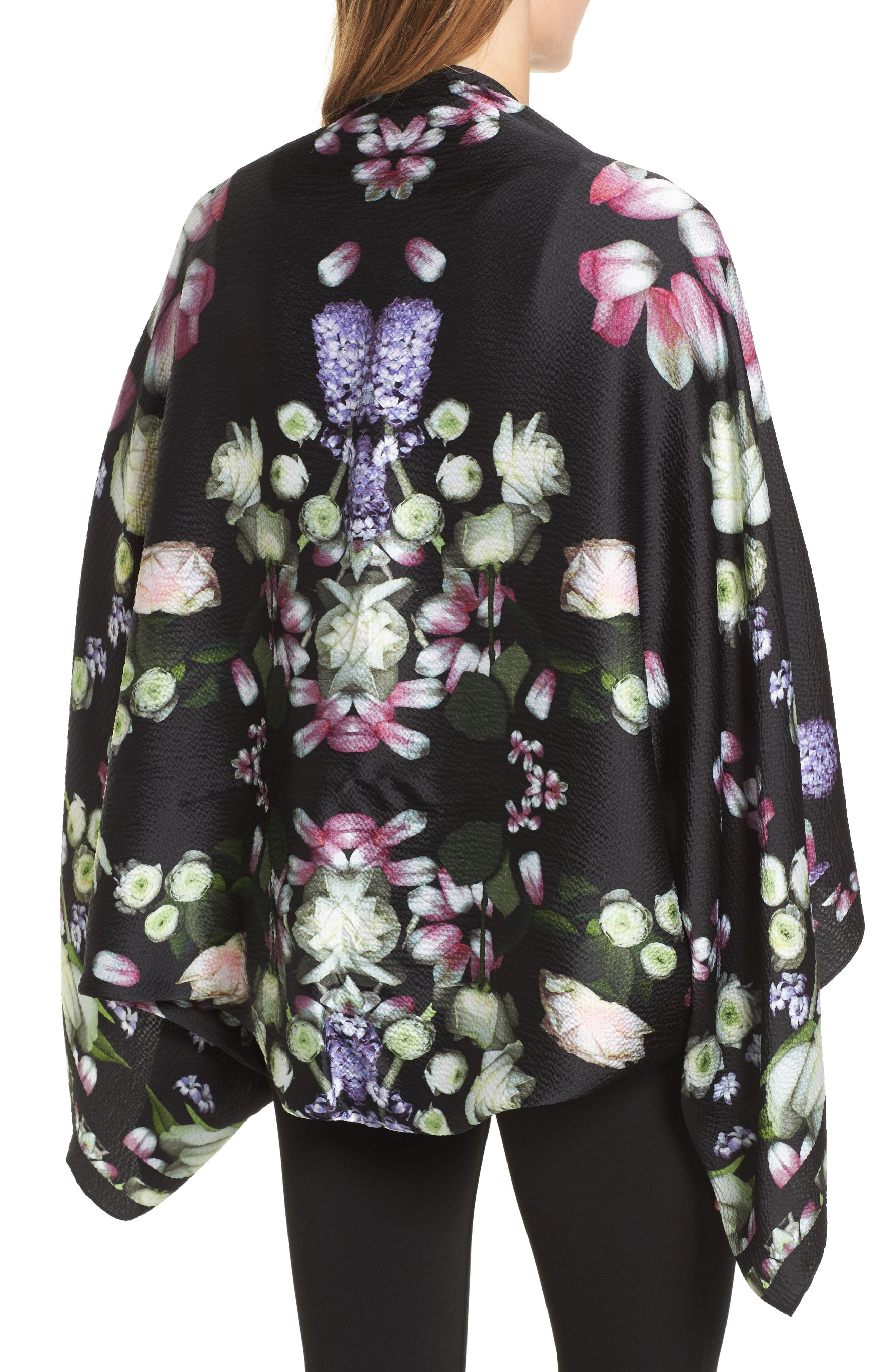 Alternate Image 2  - Ted Baker London Kensington Floral Silk Cape