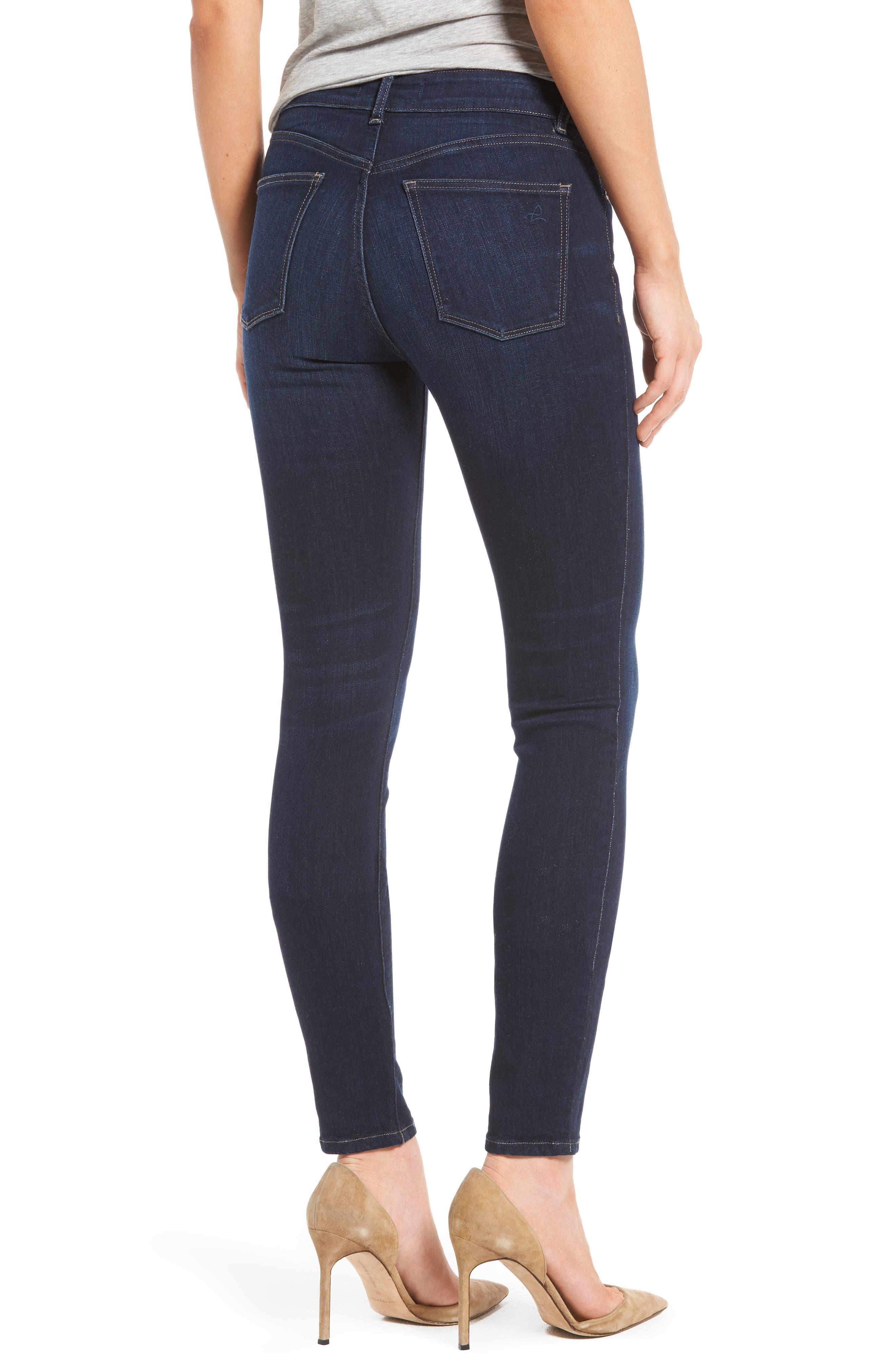 Florence Instasculpt Skinny Jeans,                             Alternate thumbnail 3, color,                             Crux