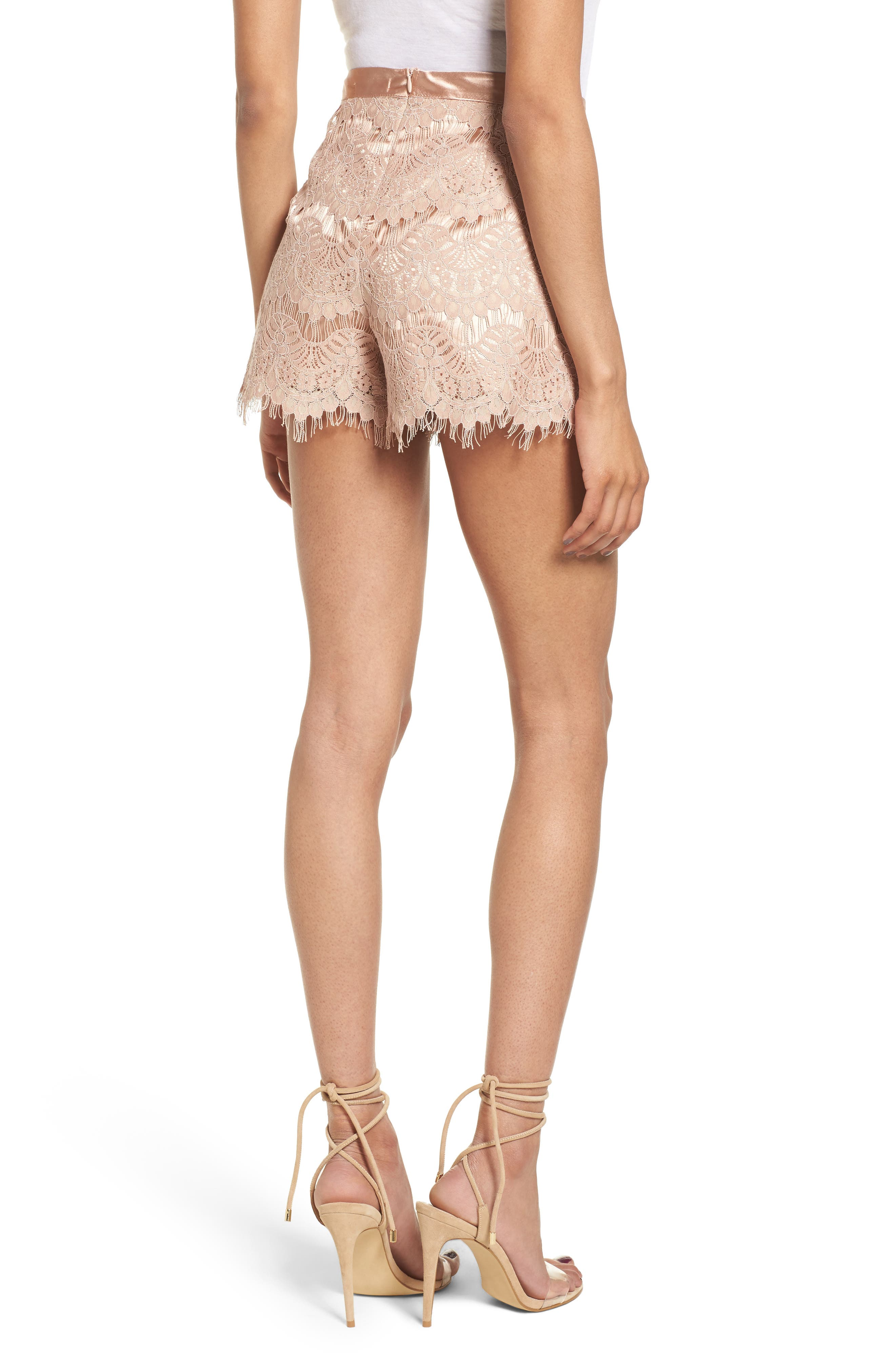 Lace Shorts,                             Alternate thumbnail 2, color,                             Pink Night