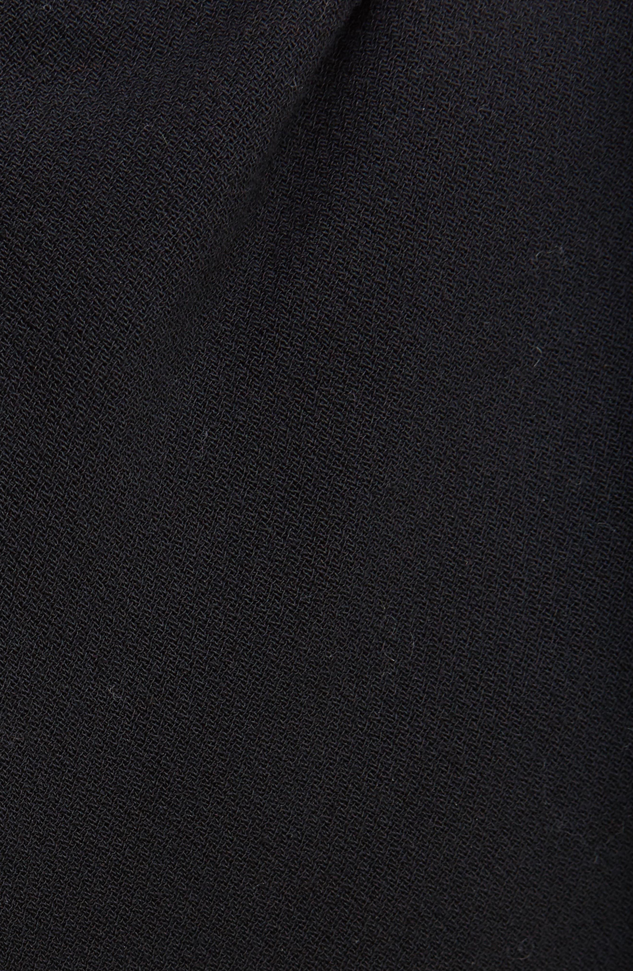 Drape Neck Dress,                             Alternate thumbnail 3, color,                             Black