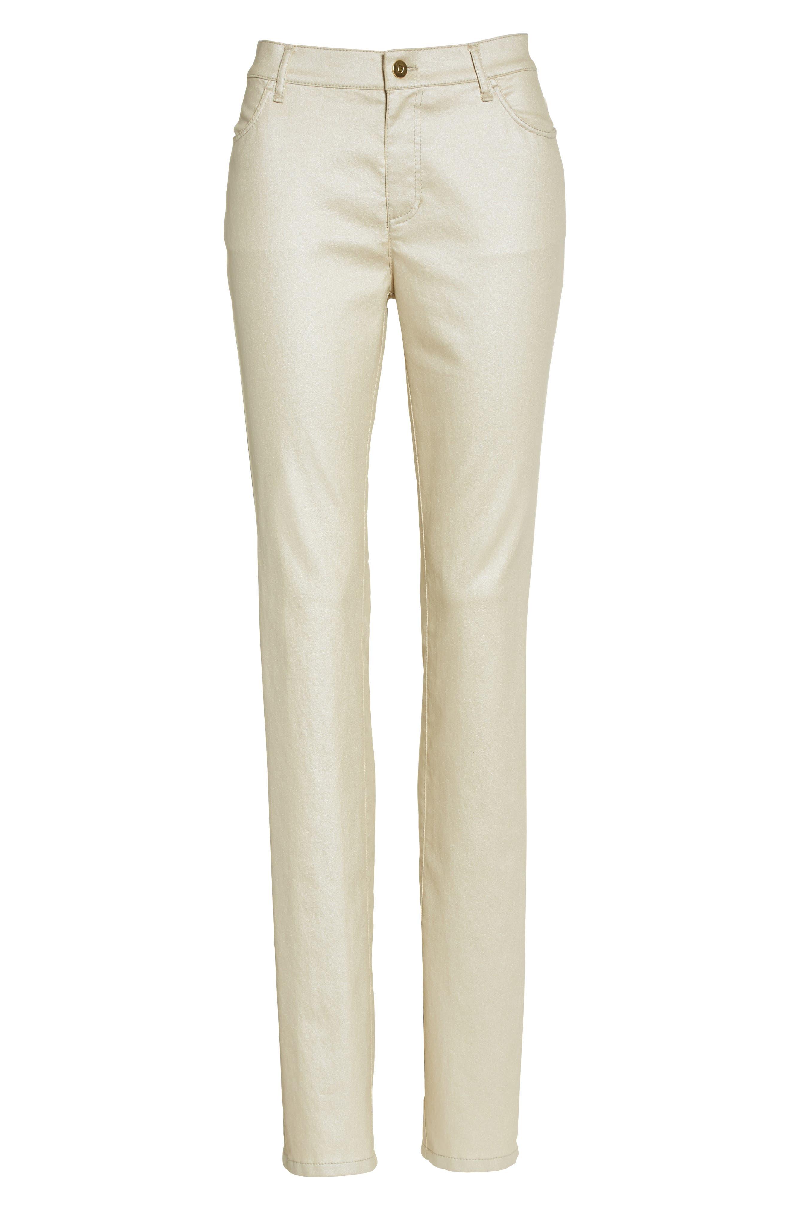 Alternate Image 4  - Lafayette 148 New York Curvy Fit Skinny Jeans (Mason)