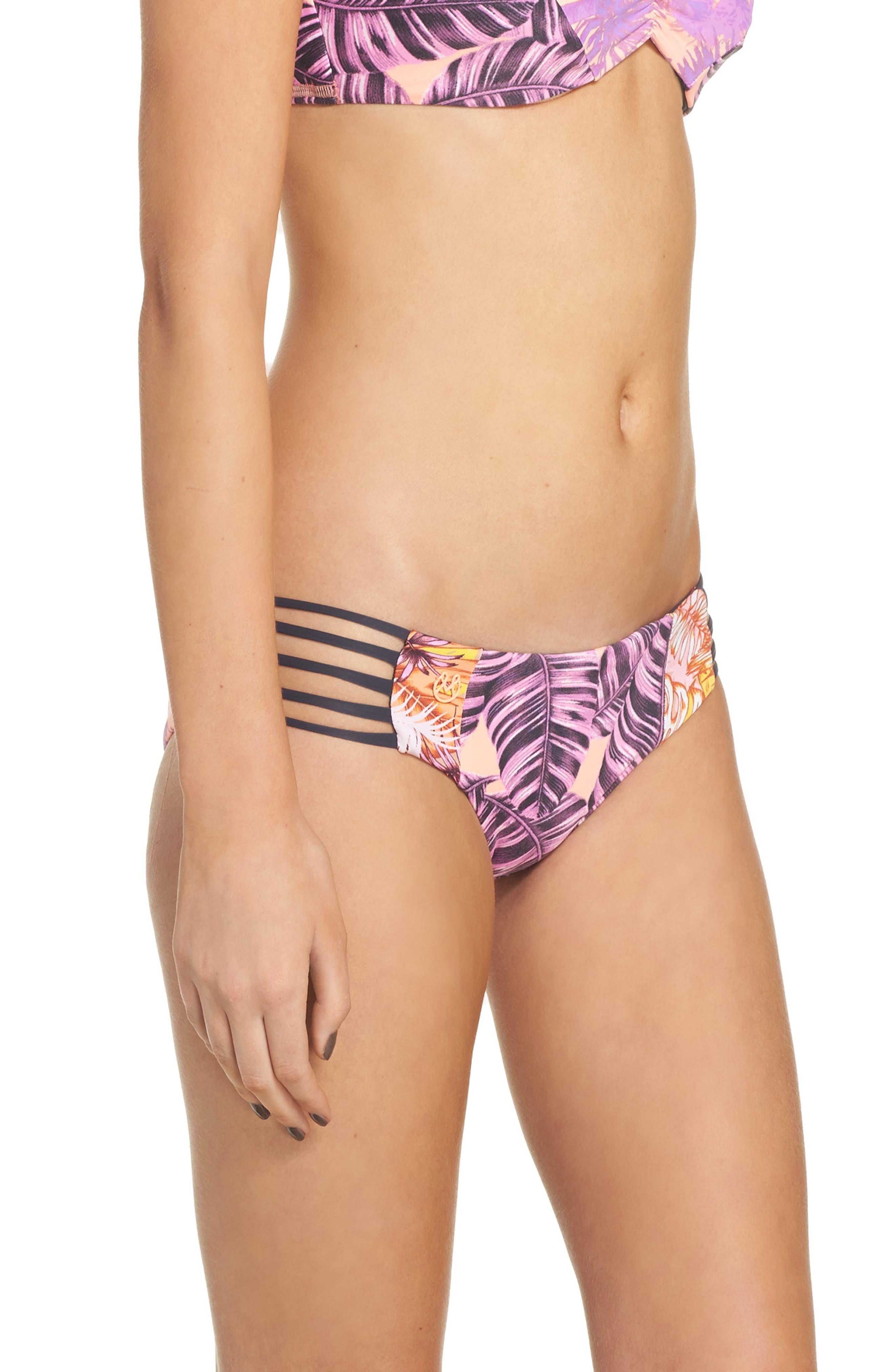 Alternate Image 4  - Maaji Pink Sunset Reversible Bikini Bottoms