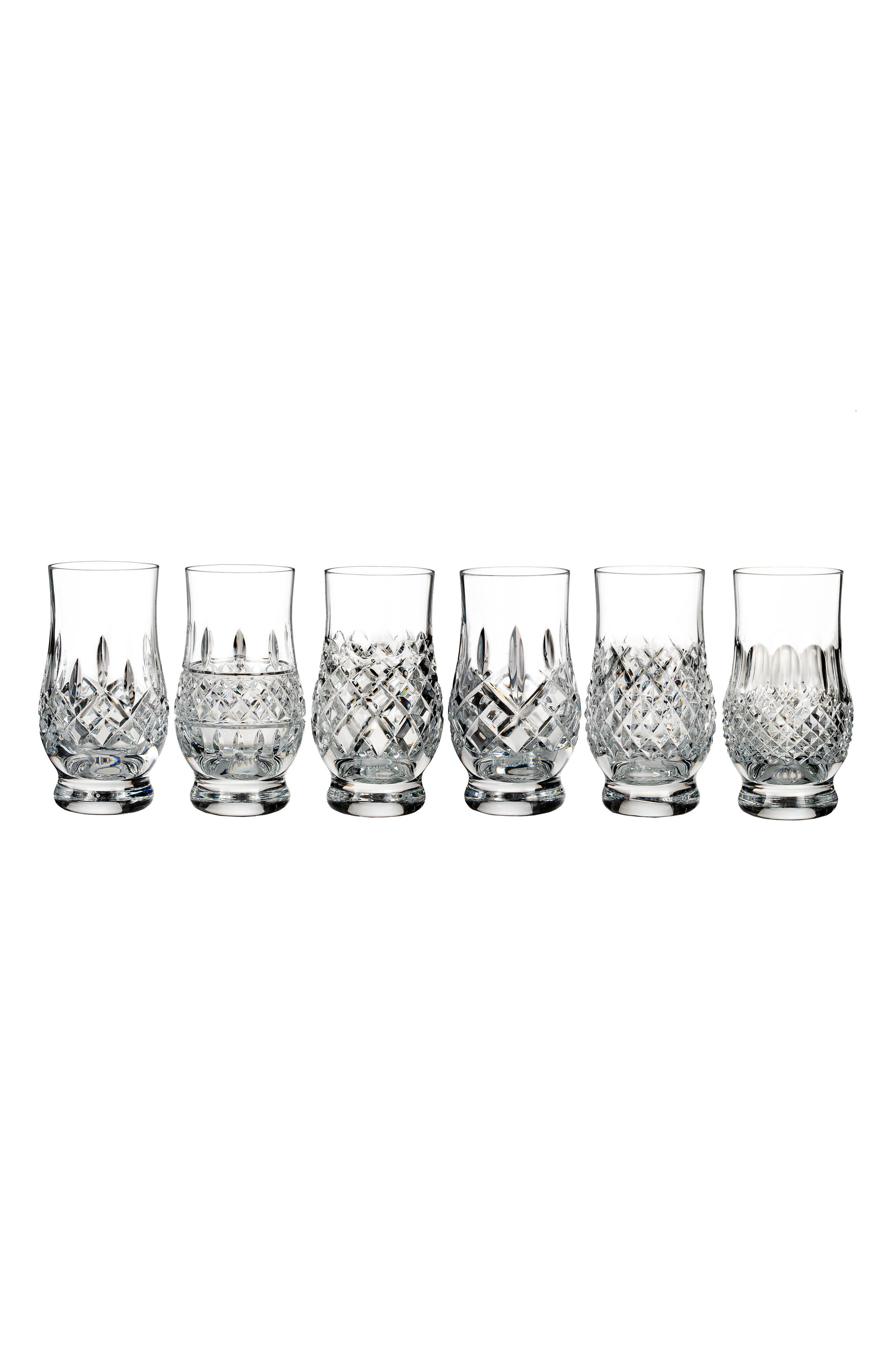 Connoisseur Set of 6 Footed Lead Crystal Tumblers,                         Main,                         color, Crystal