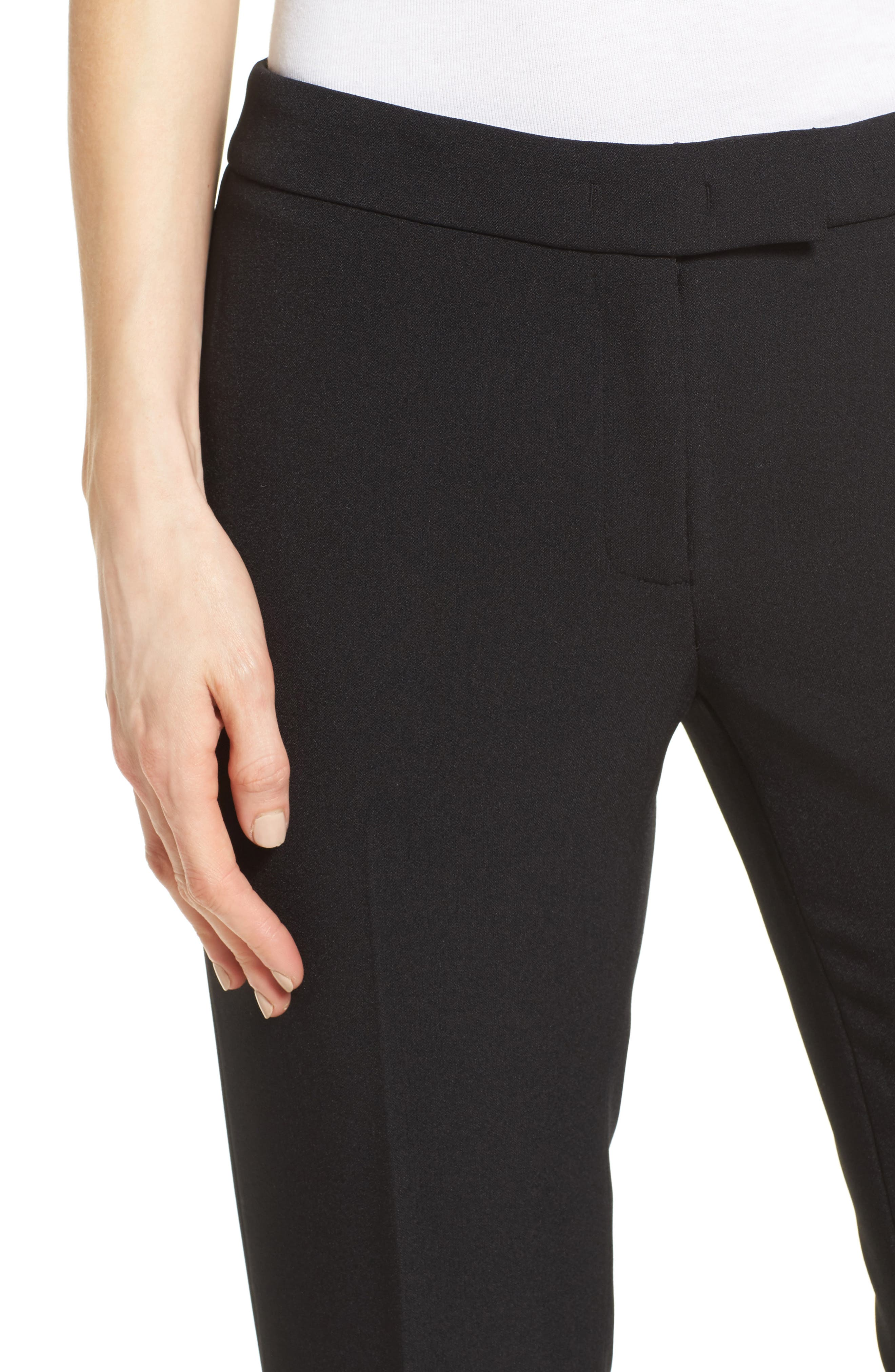 Slim Leg Pants,                             Alternate thumbnail 4, color,                             Black