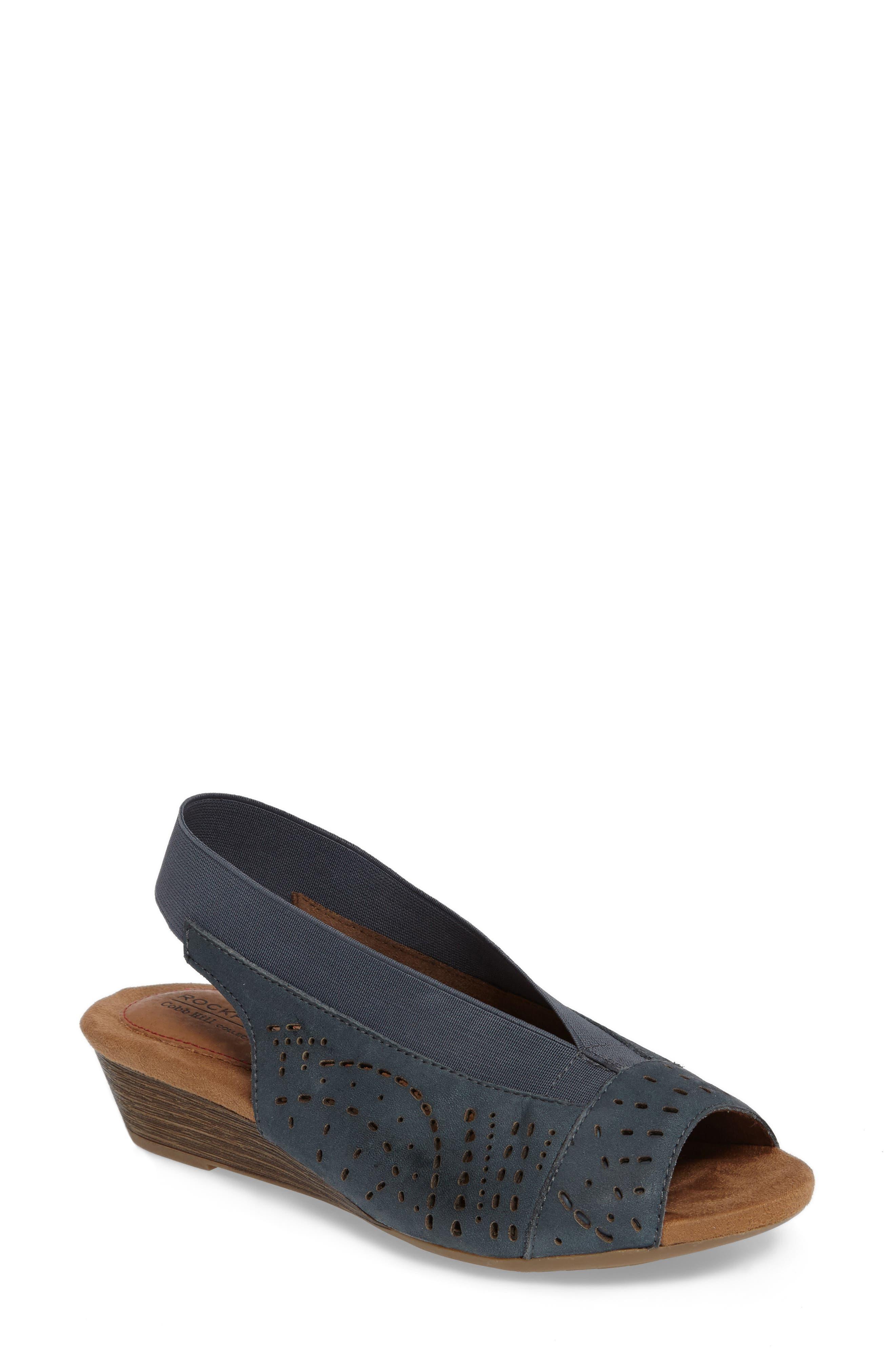 Rockport Cobb Hill Judson Slingback Wedge Sandal (Women)