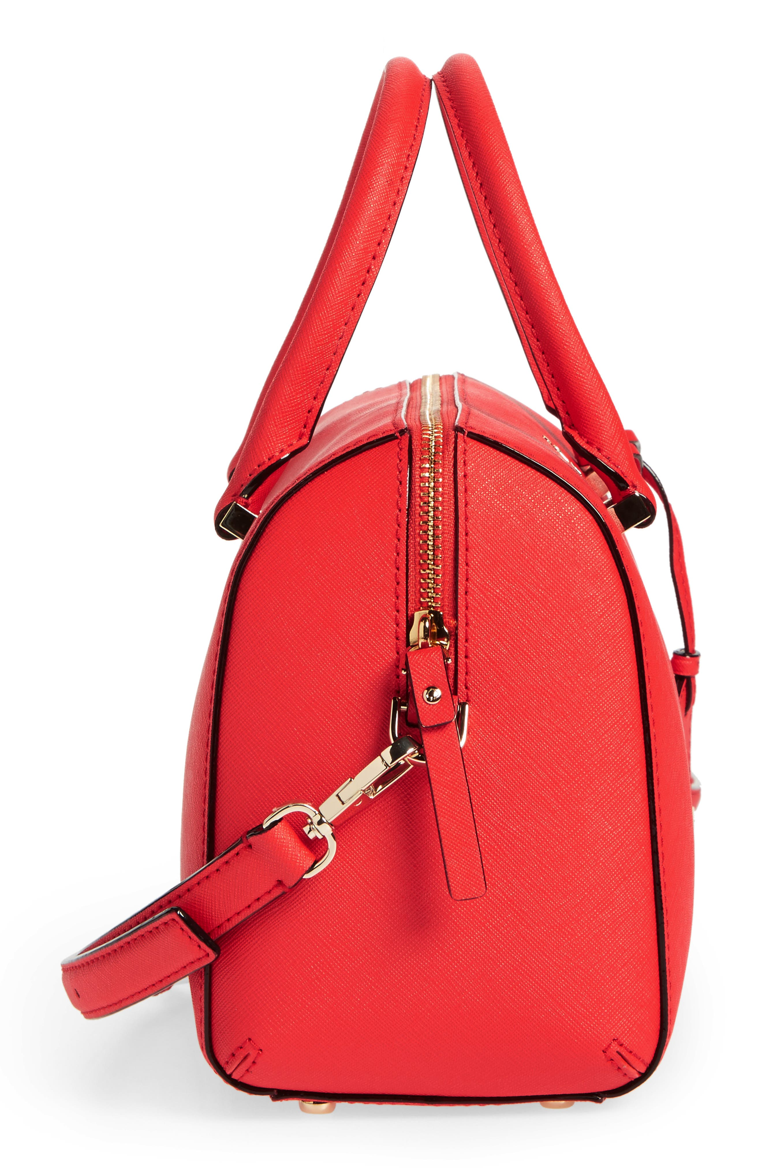 cameron street large lane leather satchel,                             Alternate thumbnail 7, color,                             Prickly Pear