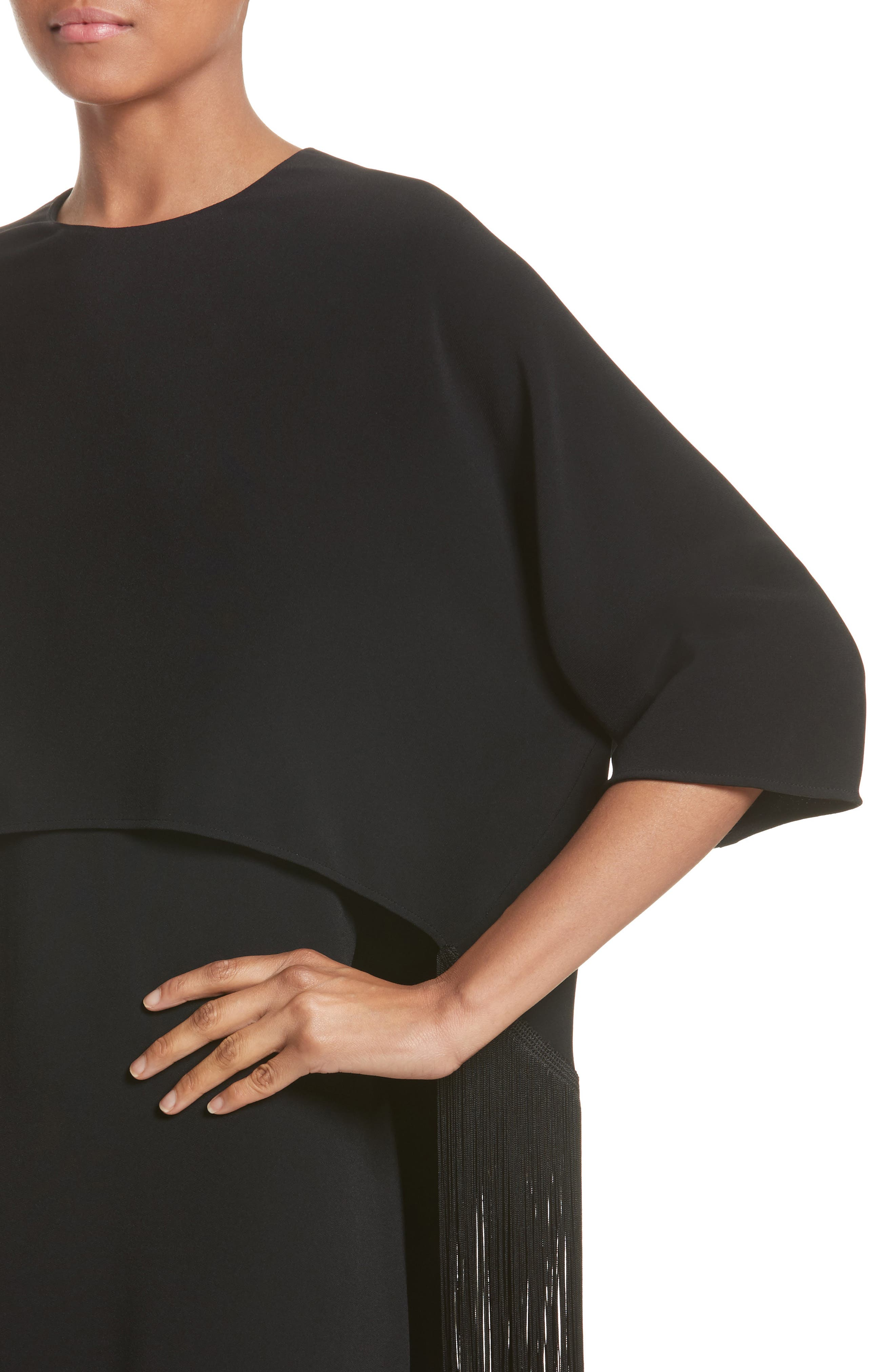 Alternate Image 6  - Stella McCartney Fringe Overlay Stretch Cady Dress