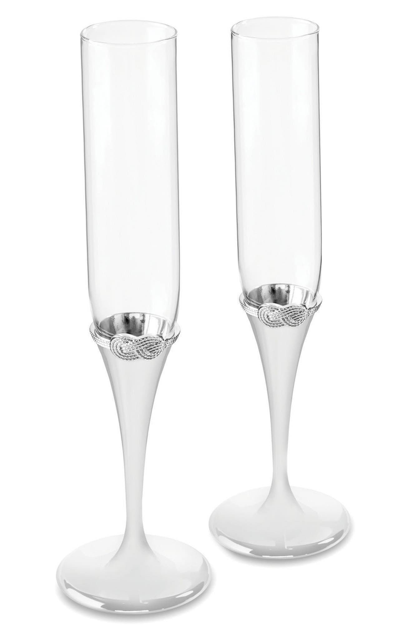 Vera Wang x Wedgwood Infinity Set of 2 Toasting Flutes