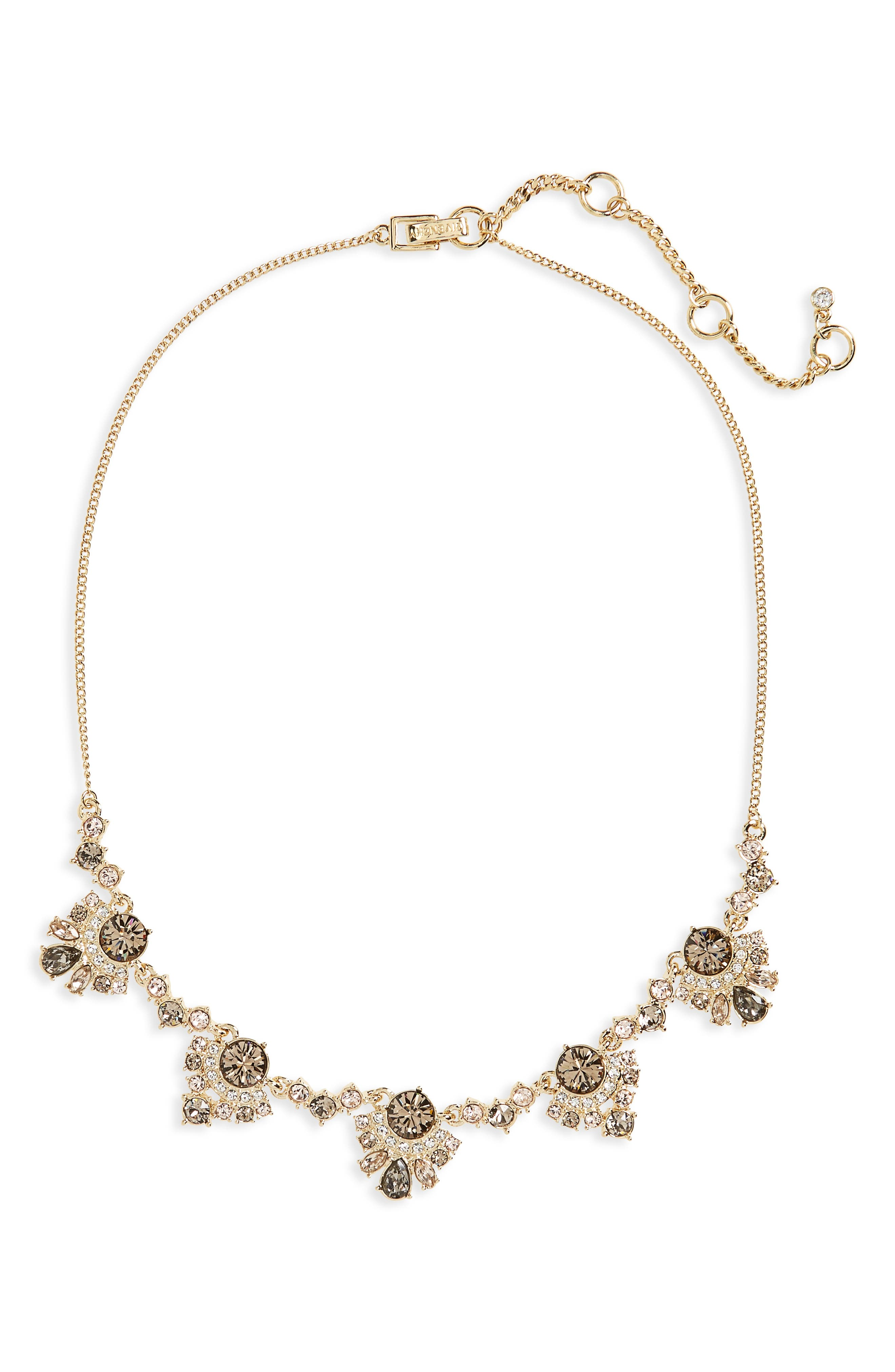 Verona Frontal Necklace,                         Main,                         color, Greige / Gold