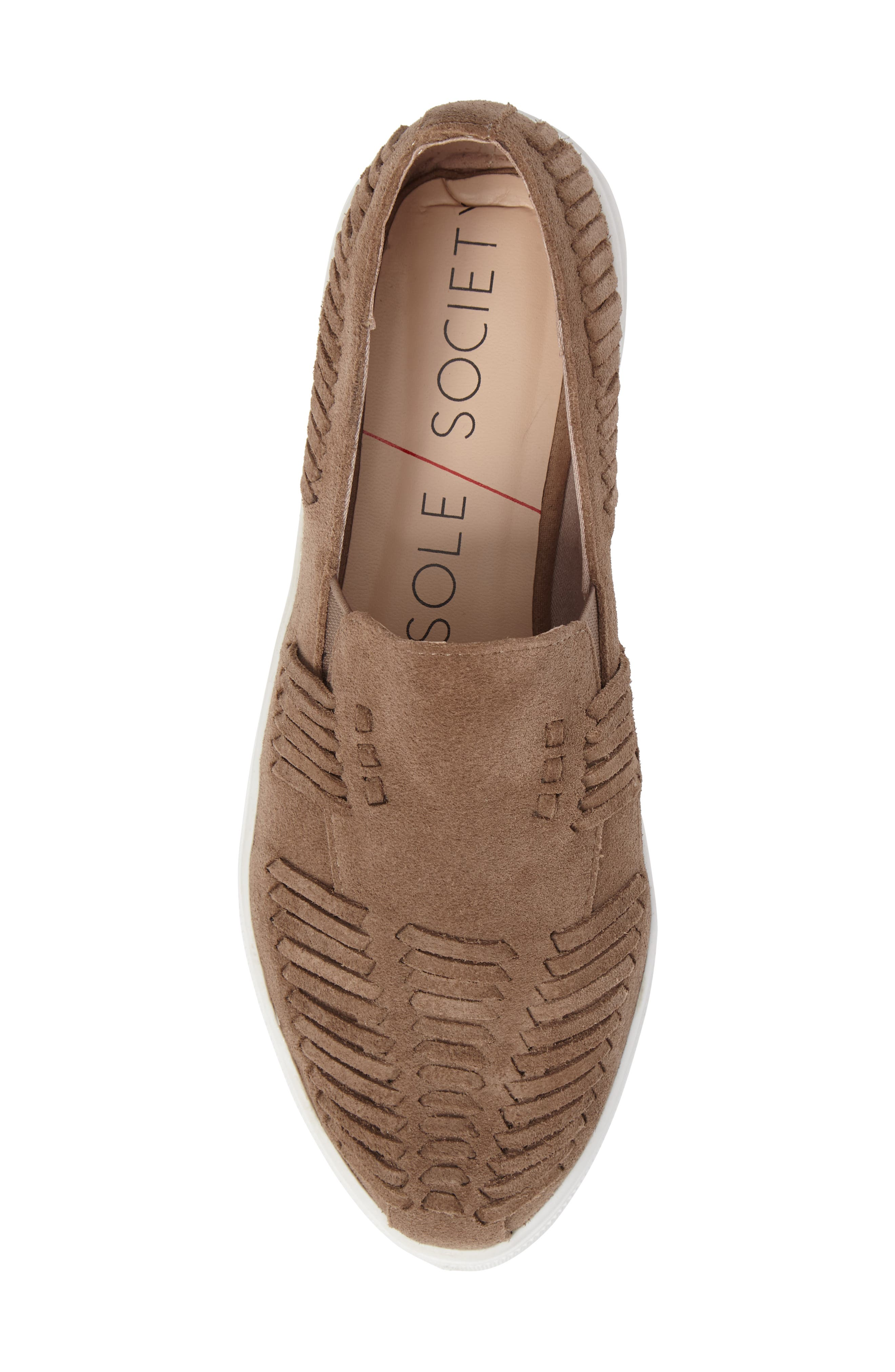 Rocco Woven Slip-On Sneaker,                             Alternate thumbnail 5, color,                             Taupe Suede