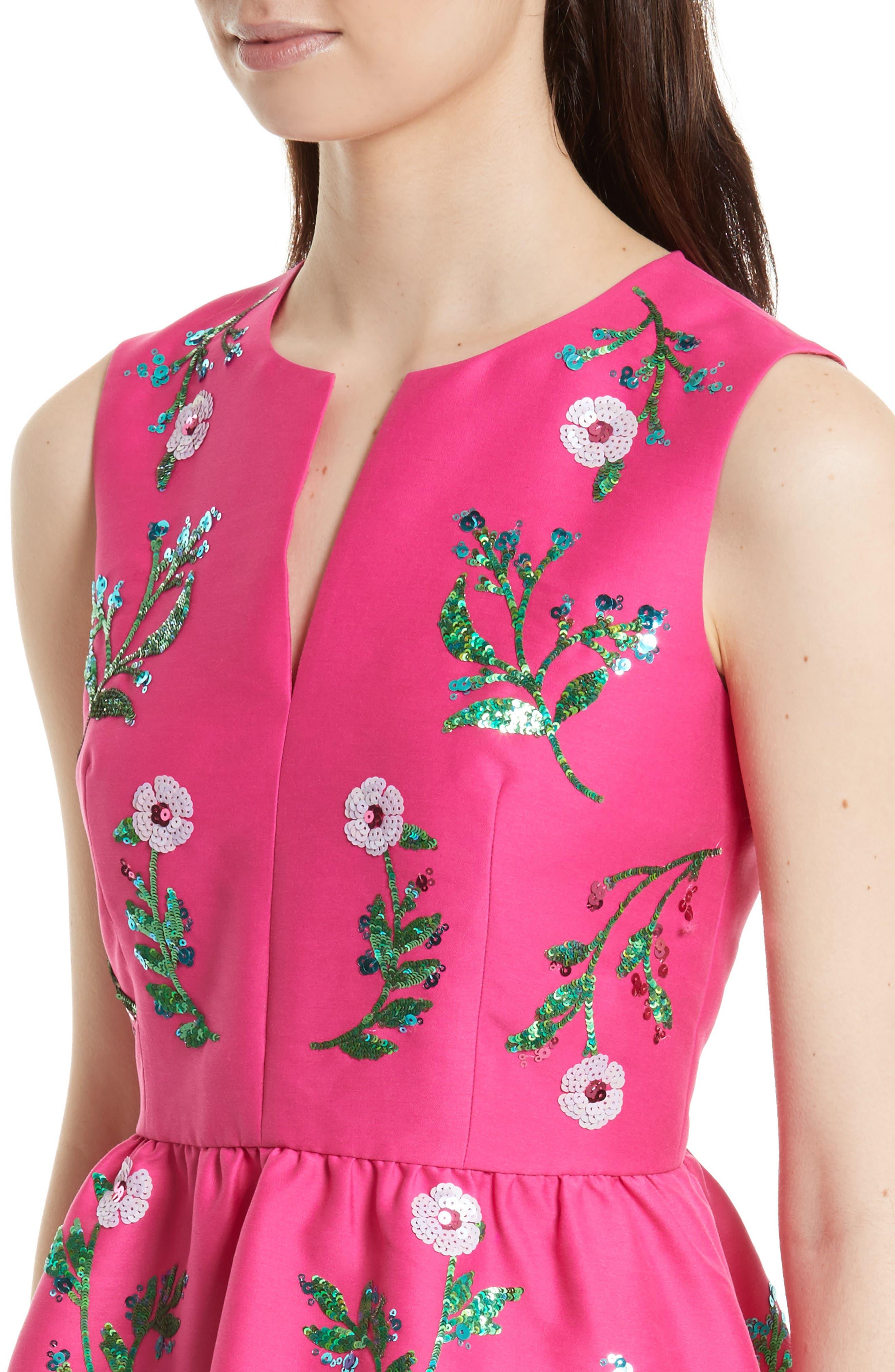 Alternate Image 3  - kate spade new york floral embellished fit & flare dress