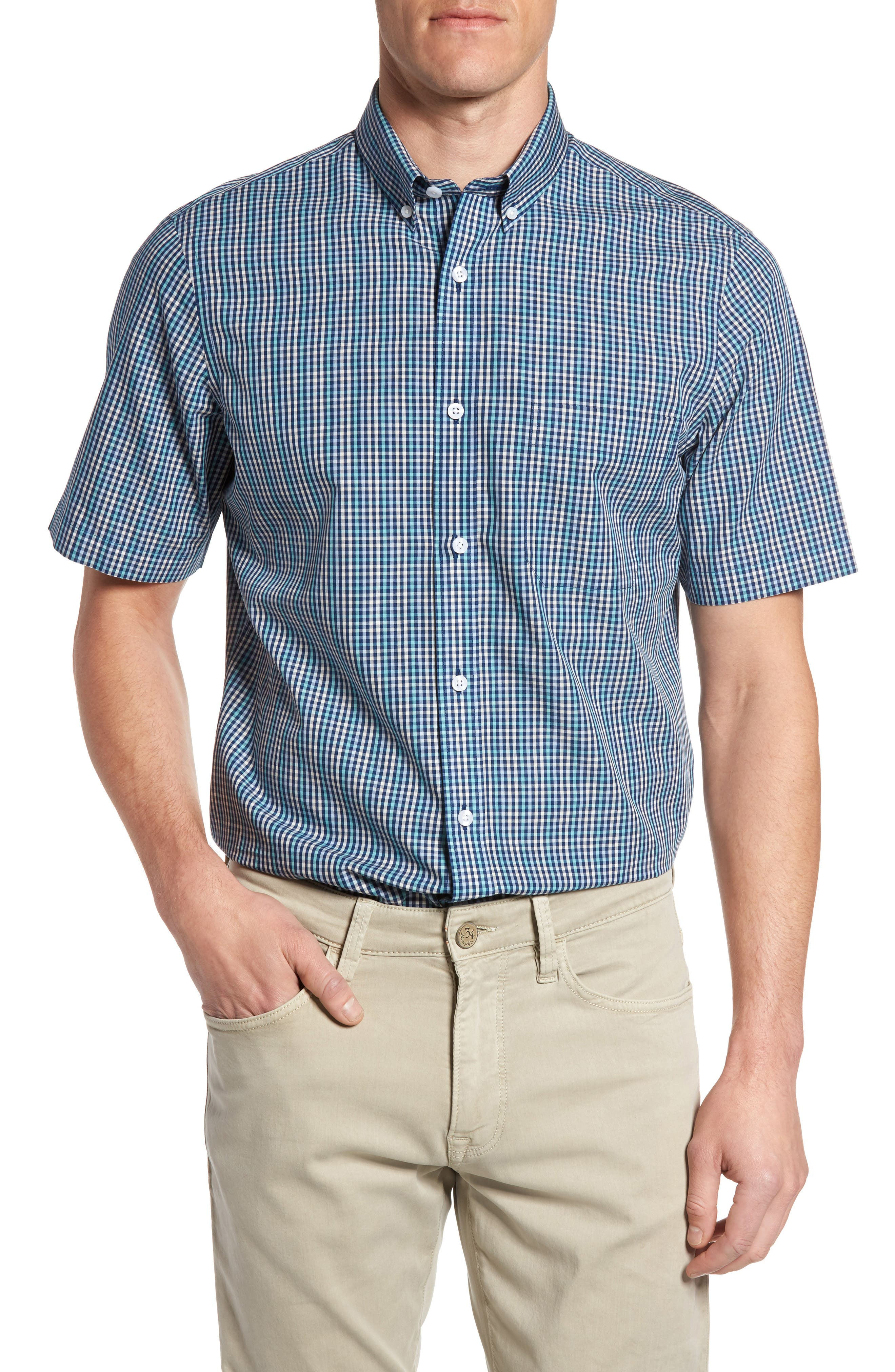 NORDSTROM MENS SHOP Smartcare<sup>™</sup> Regular Fit Check Sport Shirt
