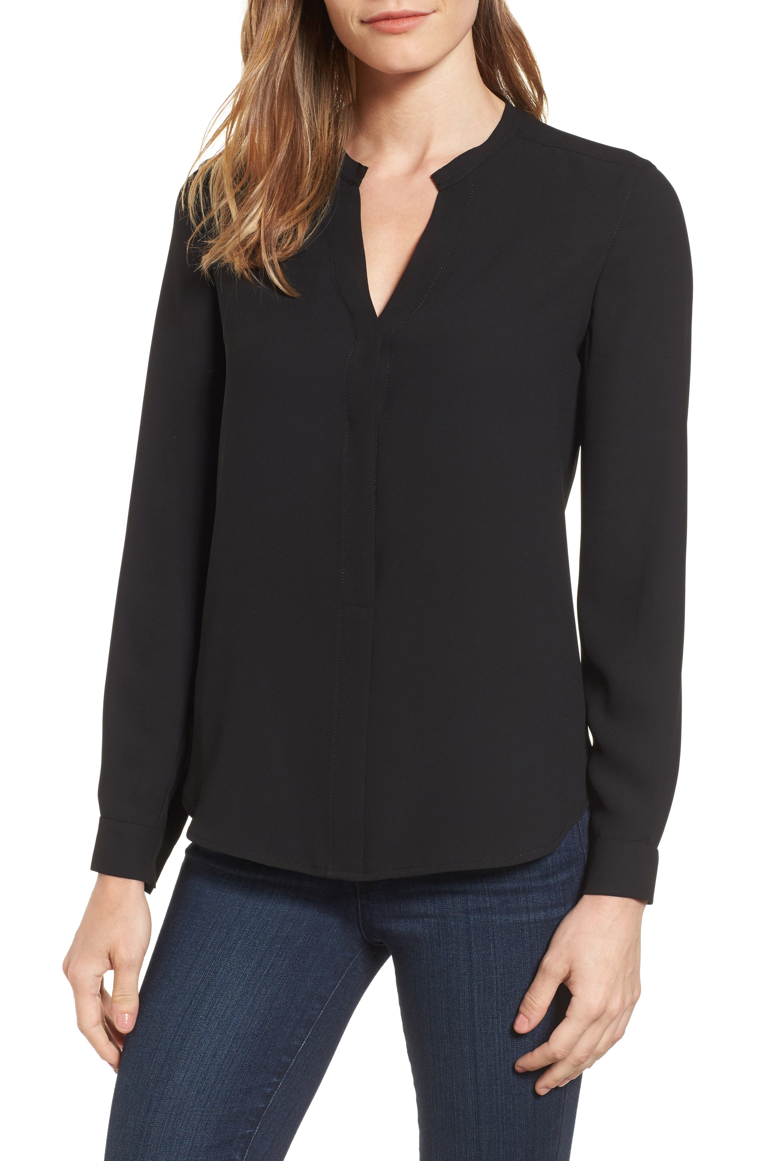 Alternate Image 1 Selected - Anne Klein Mix Media Blouse