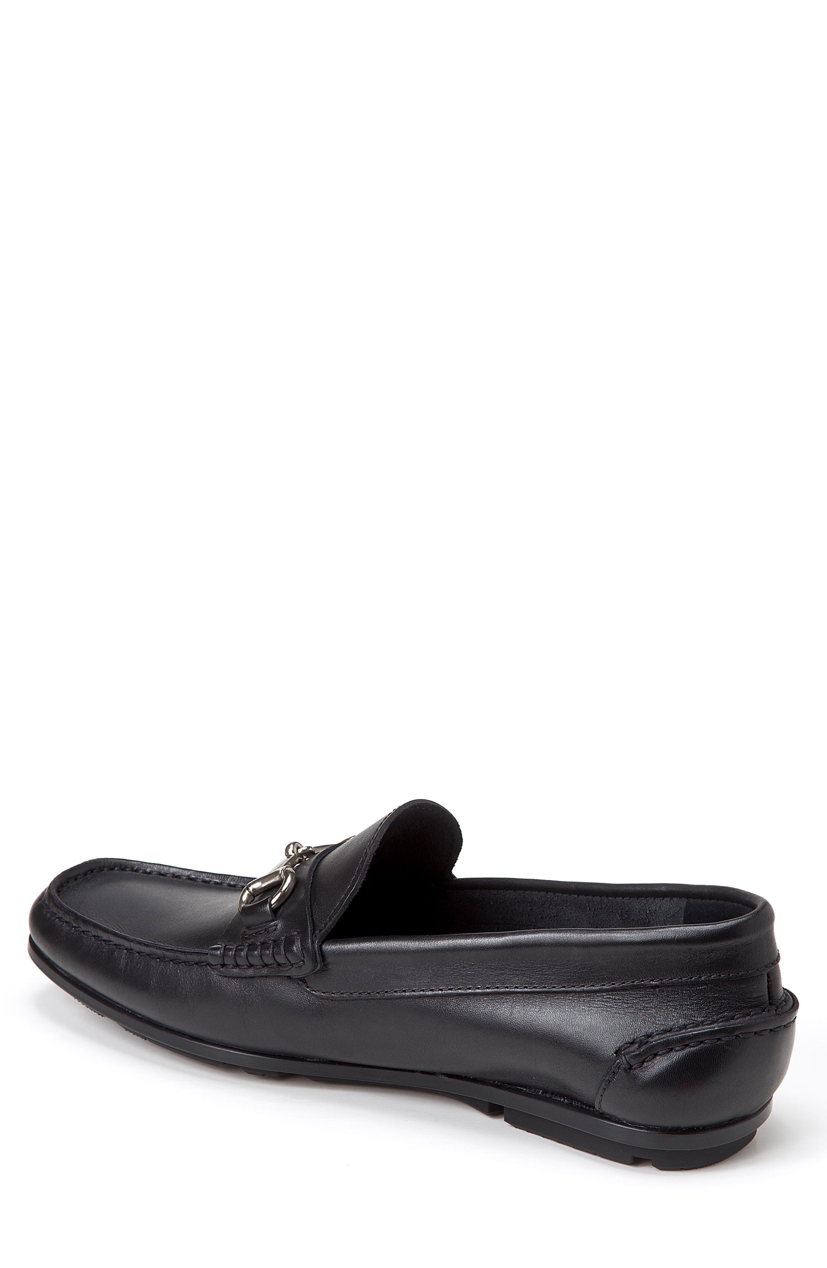 Marco Moc Toe Loafer,                             Alternate thumbnail 2, color,                             Black Leather