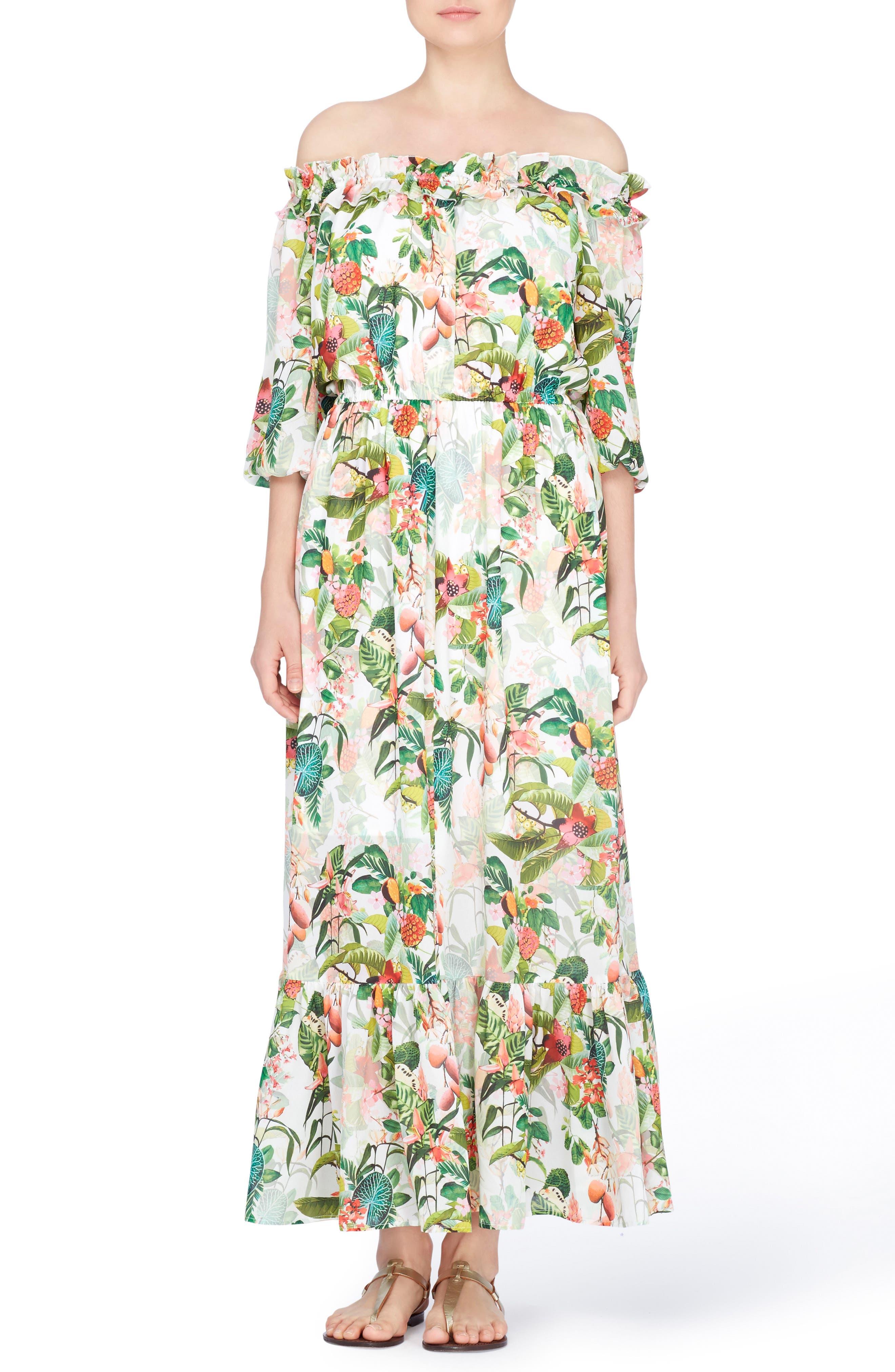 Catherine Catherine Malandrino Hewett Off the Shoulder Maxi Dress
