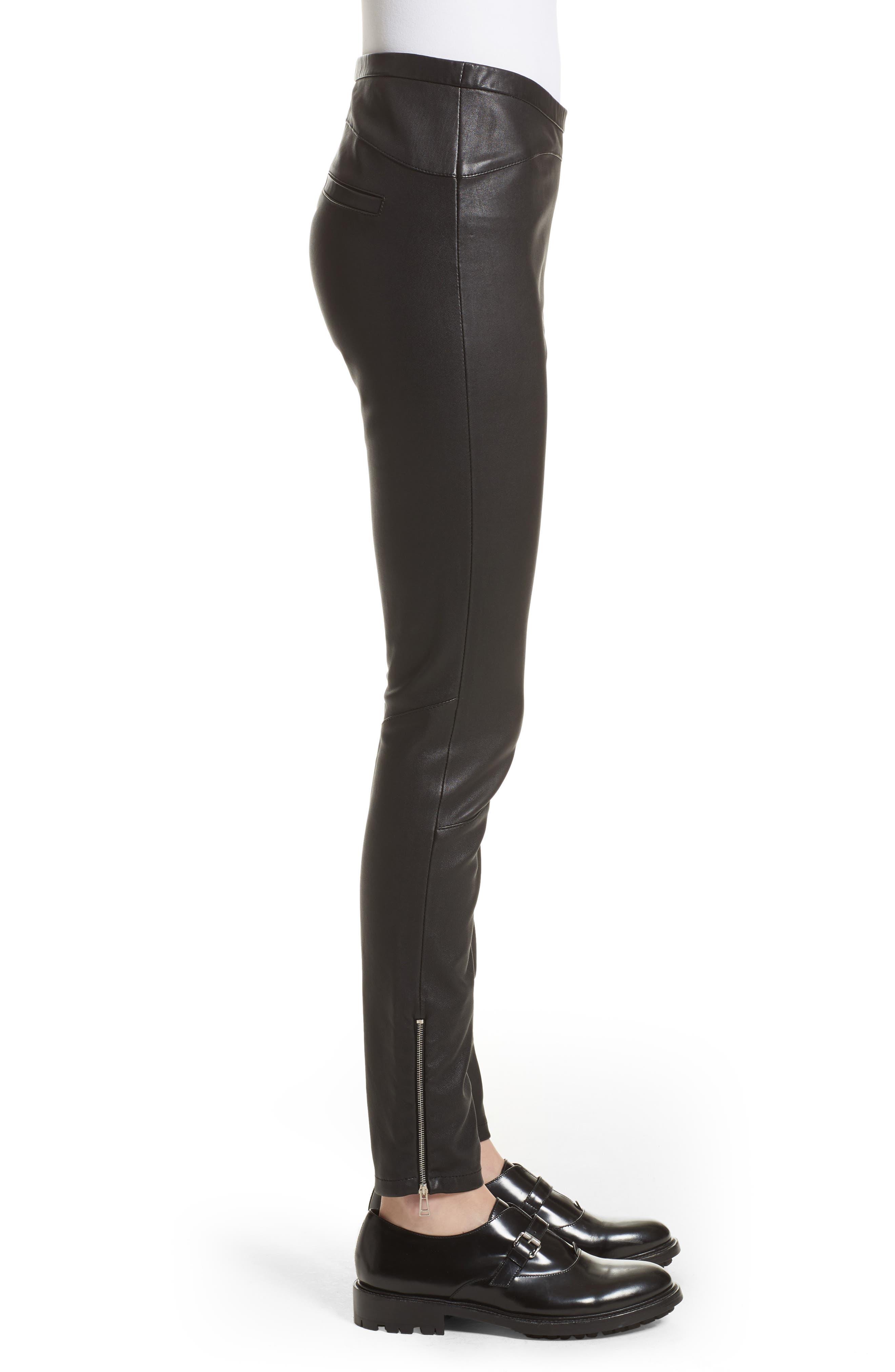 Alternate Image 5  - Belstaff Gazelle Leather Leggings