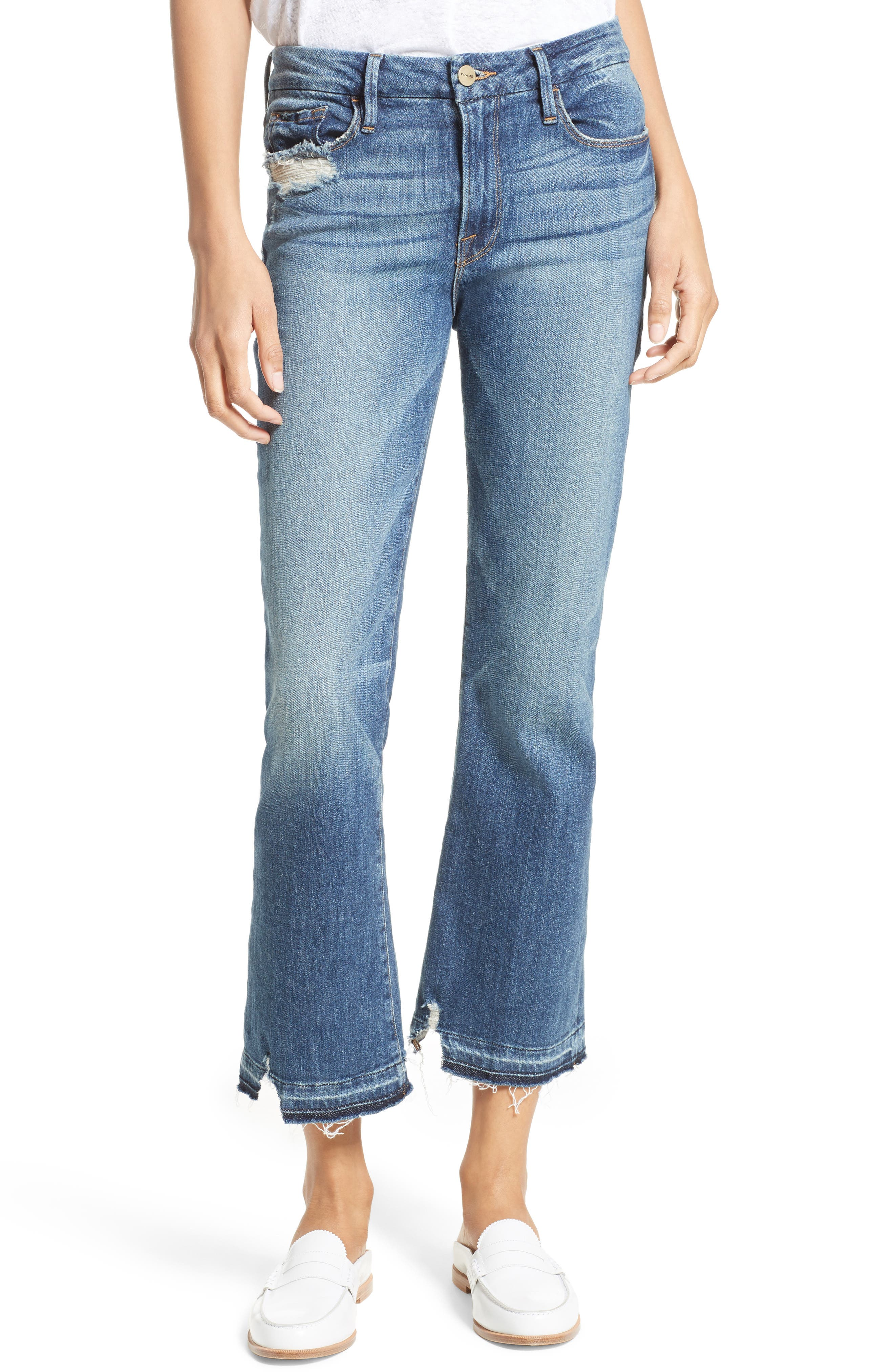 Alternate Image 1 Selected - FRAME Released Hem Le Crop Mini Boot Jeans (Roberts)