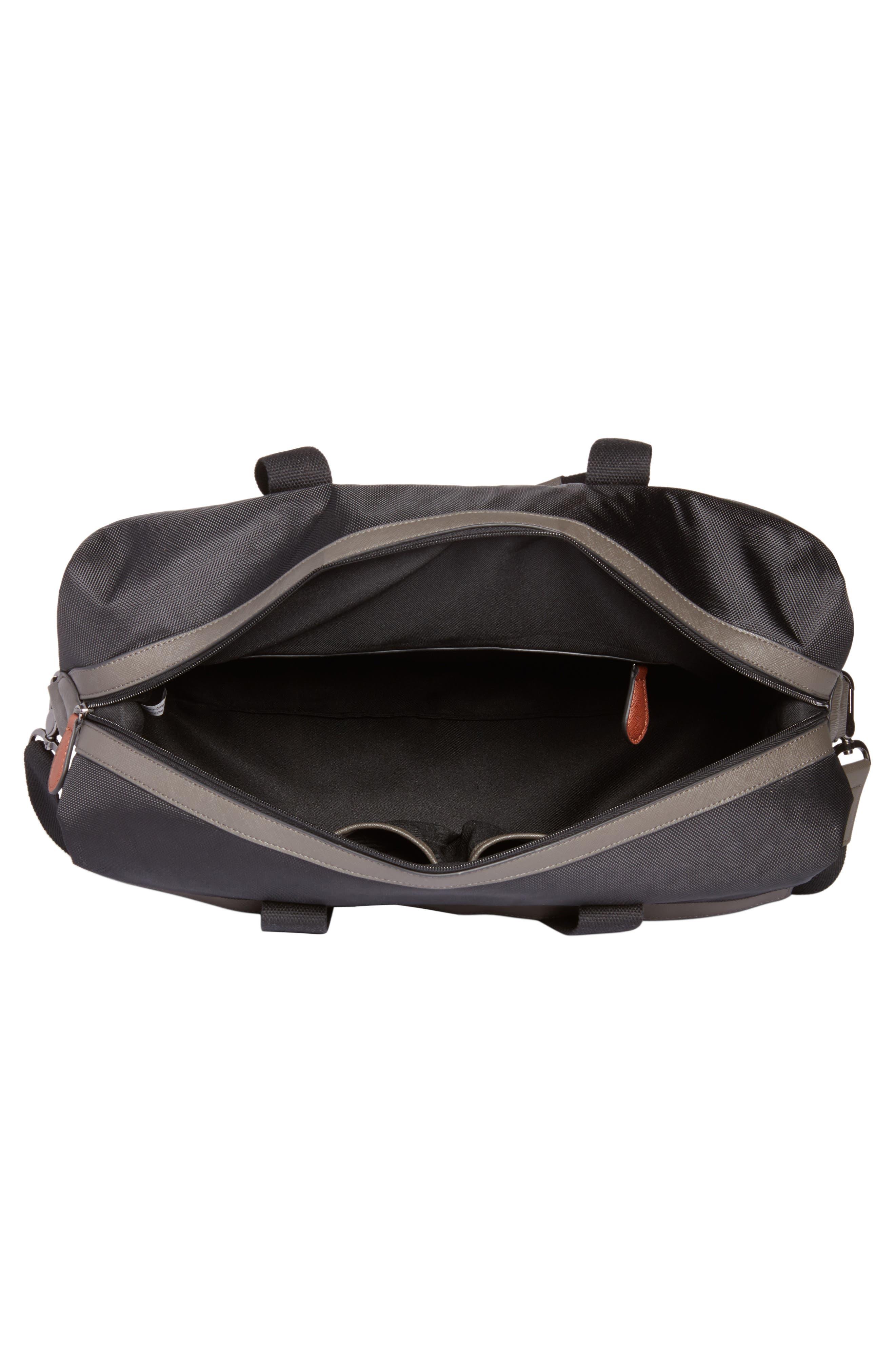 Zeebee Duffel Bag,                             Alternate thumbnail 4, color,                             Black