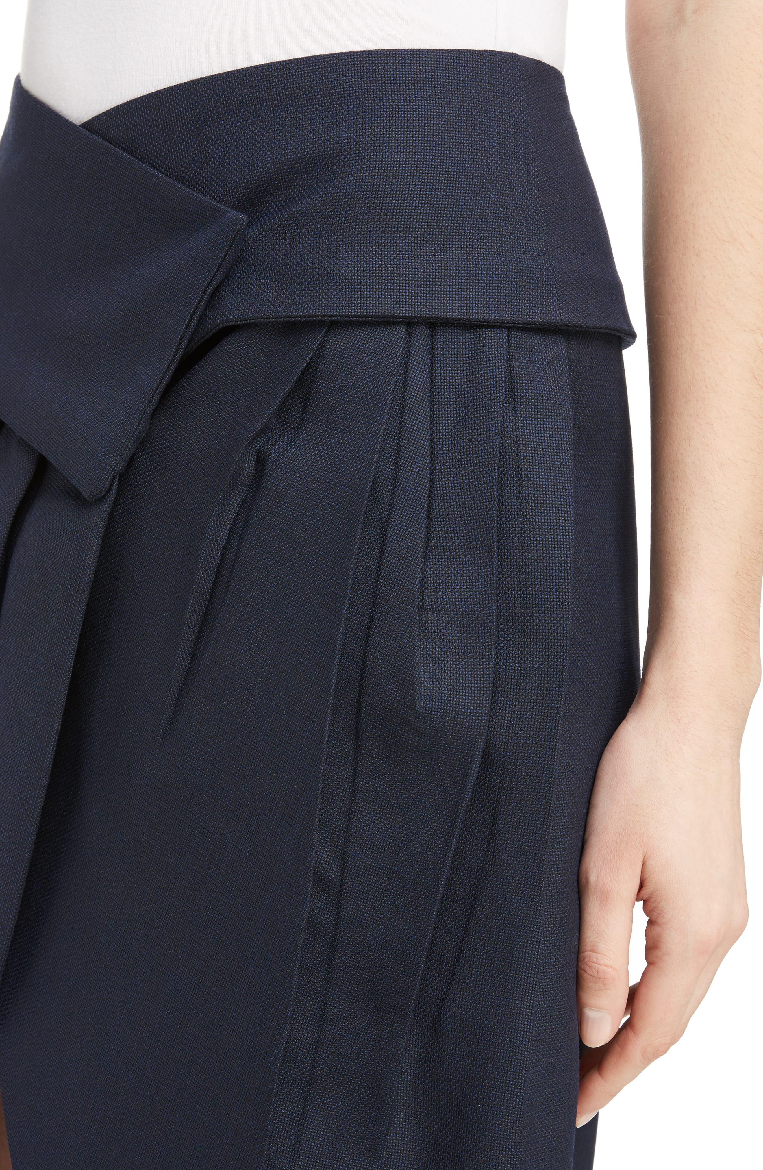 Alternate Image 4  - Jacquemus Box Pleat Asymmetrical Wool Skirt