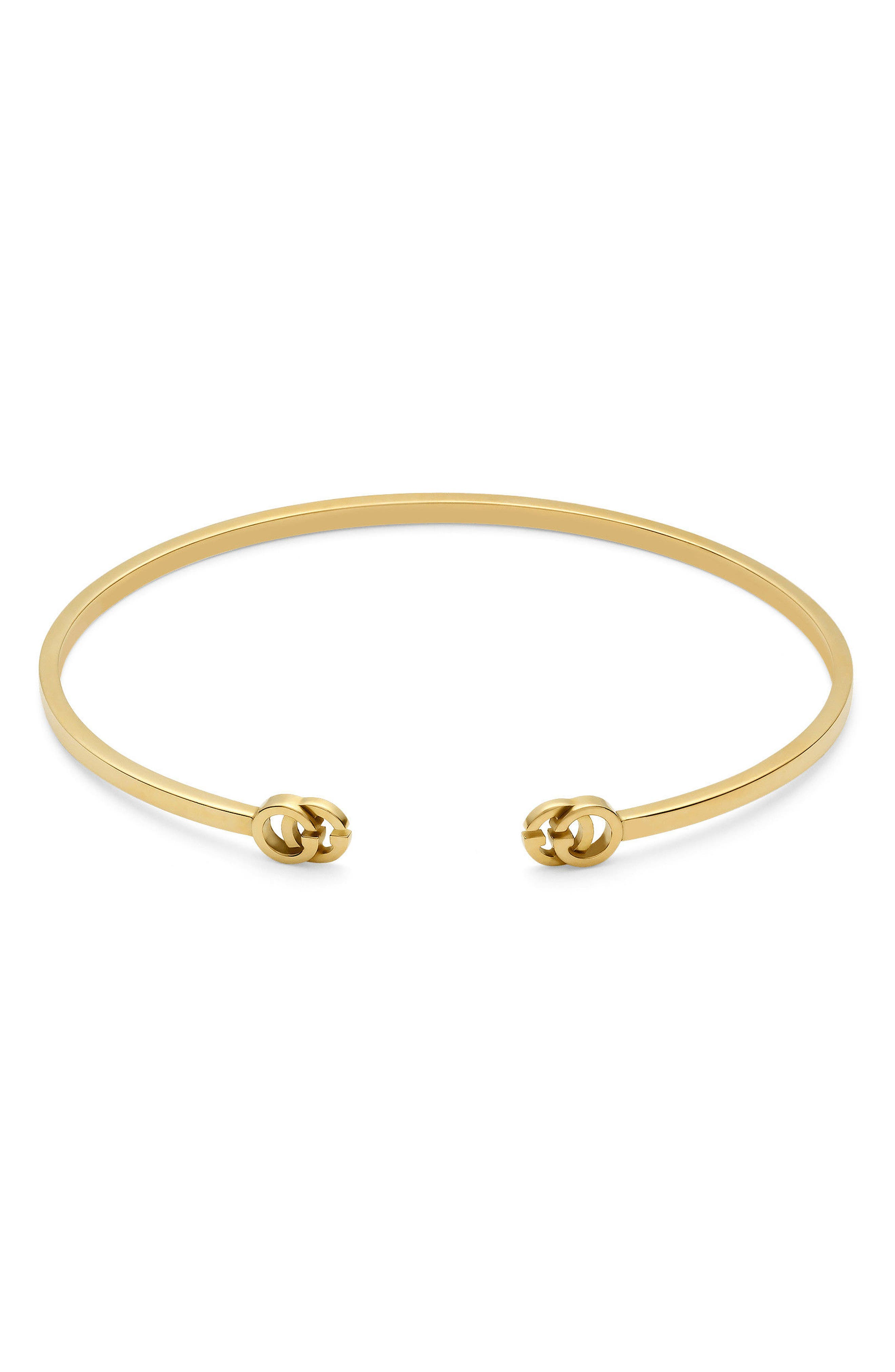Double-G Cuff,                         Main,                         color, Yellow Gold